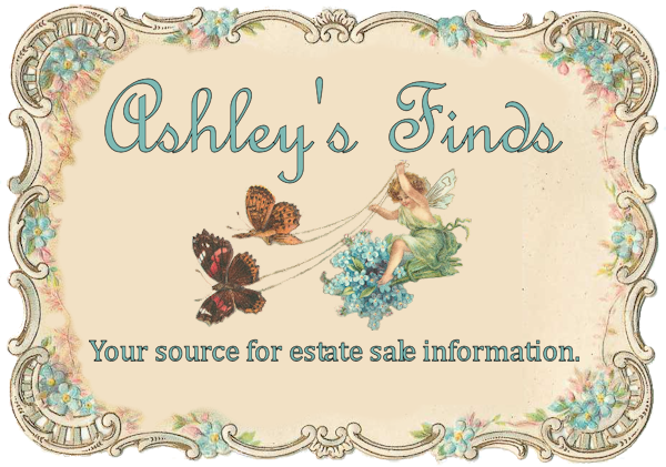 Visit Ashley's Finds to find out about other estate sales & auctions this week!