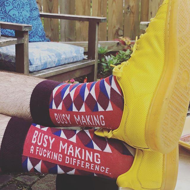 Sock close up on Eric #busymakingafuckingdifference #getbusy #makingadifferencetogether #sockgameisoffthehook