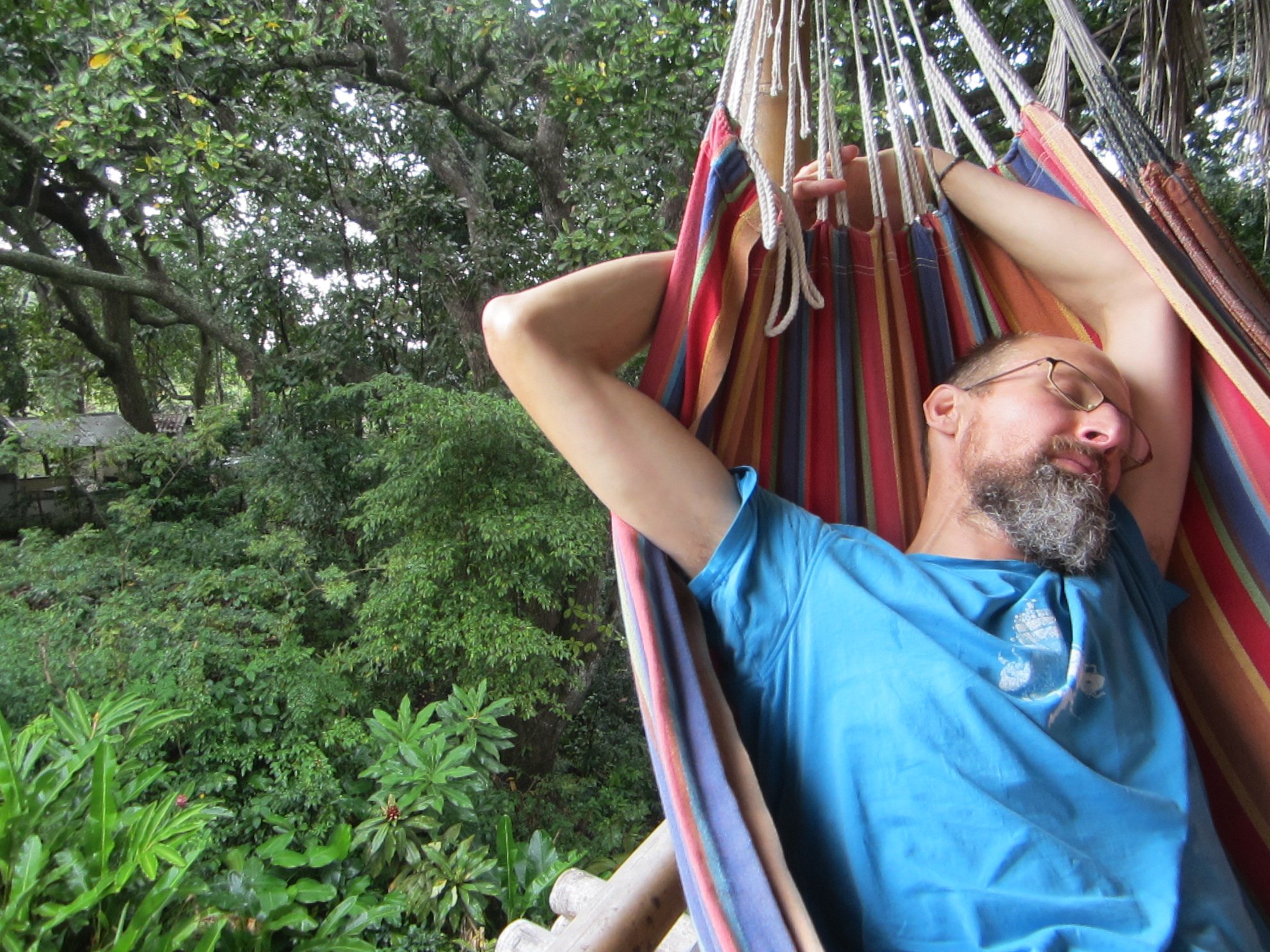 Recovering in a hammock
