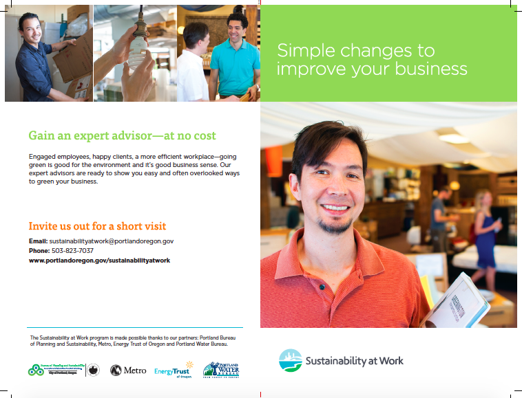 Promo brochure - Led rebranding process for Sustainability at Work. Wrote, edited copy and directed photography and design.