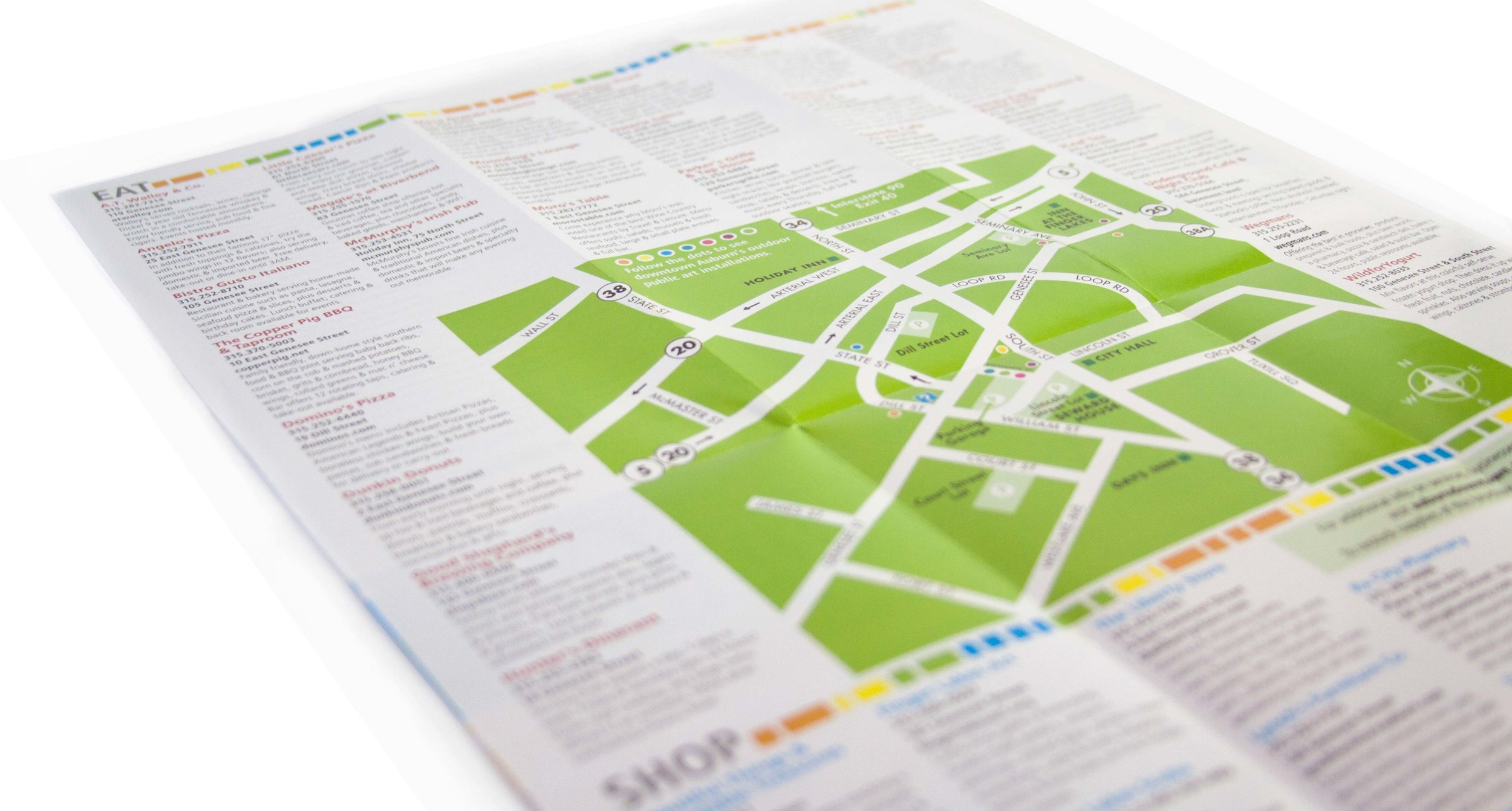 Brochure Map Design