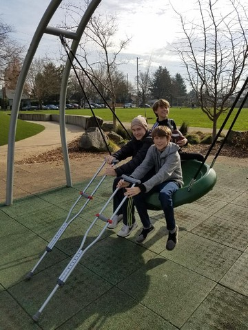 - Friends in abundanceBrothers Peter and TedTook Atticus to the parkUntil he was ready for bed