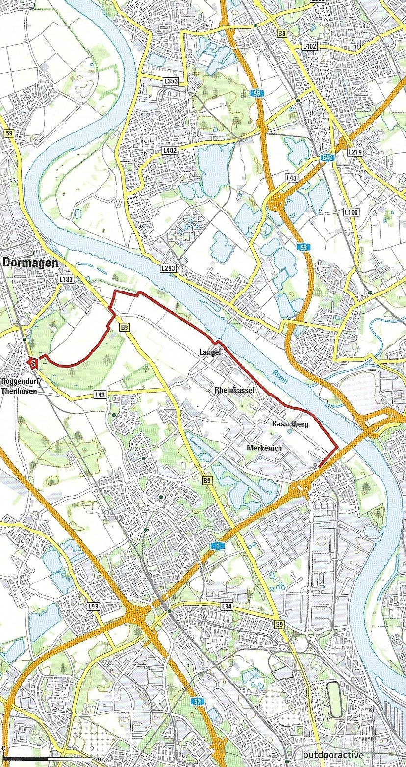 Die Wanderung auf einen BlickEtappe 4 - Start: S11 Haltestelle Worringen Ende: KVB Haltestelle Merkenich Linie 12 Distanz: 11 KilometerDauer: ca. 2 1/2 StundenDie Strecke: Mit der S11 fahrt ihr raus Richtung Worringen, hier angekommen wandert ihr durch das Naturschutzgebiet, entlang von vielen Feldern und über einen Deich am Rhein bis nach Langel. Hier könnt ihr eine Pause einlegen bevor dann die zweite Hälfte der Strecke startet. Von Langel sind es noch mal gut vier Kilometer bis zum Ziel fast komplett am Rhein entlang. Empfehlenswert: Diese Strecke ist sehr gut ausgeschildert und eignet sich auch auf Grund ihrer Länge perfekt um das Wandern allein mal auszuprobieren. Ausrüstung: Verzichtet auf dieser Strecke lieber auf eure Wanderschuhe und tragt Sport-Lauf-Schuhe, da ihr viel über Beton und unterschiedliche harte Böden gehen werdet ist die flexiblere Sohle empfehlenswert. Solltet ihr immer dabei haben: Belegte Brote, ausreichend Wasser und auf jeden Fall eine Kamera, hier auf der Strecke gibt es viel zu sehen. Wer im Sommer wandert sollte außerdem für viel Sonnencreme sorgen, da die Strecke wenig Schatten bietet.