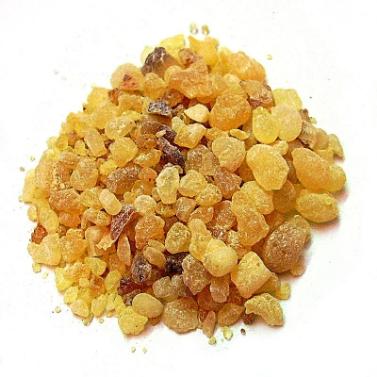 Frankincense resin,  photo taken by Peter Presslein ,  CC BY-SA 3.0  ,