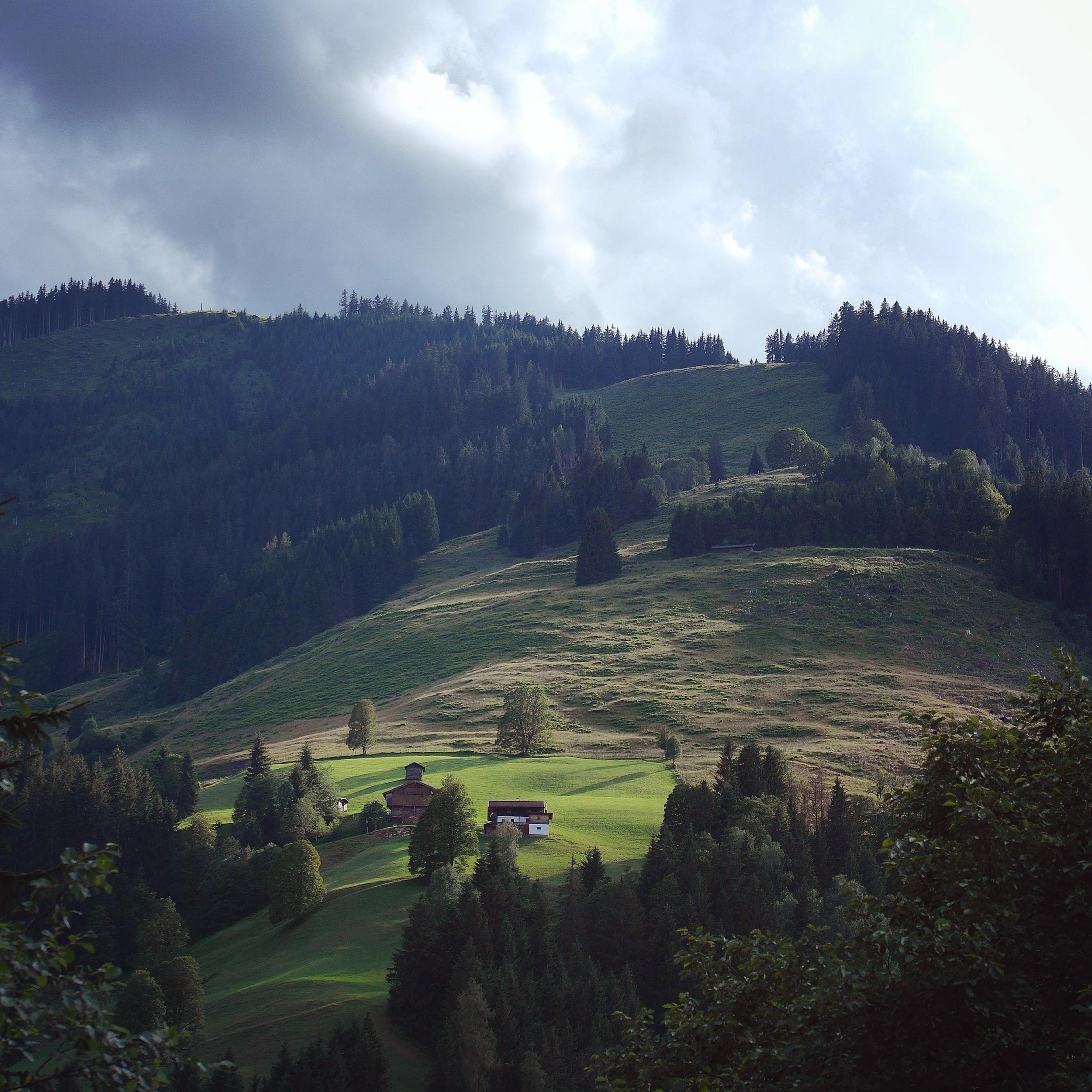 Evening light in the Austrian Alps.