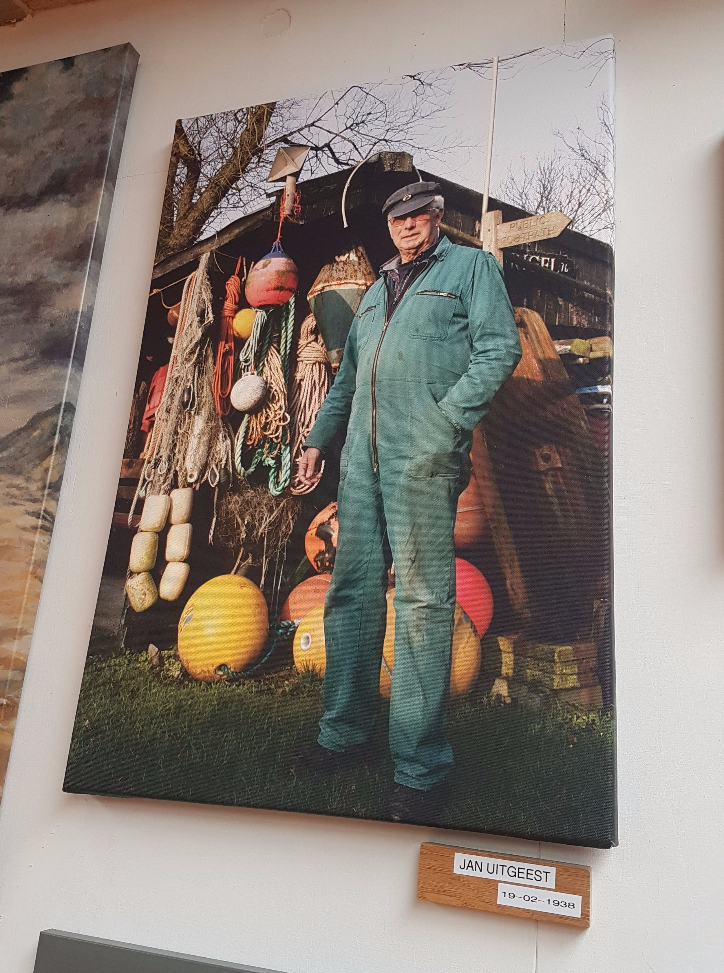 Photo of  Jan Uitgeest  found hanging proudly on the wall, of the museum.