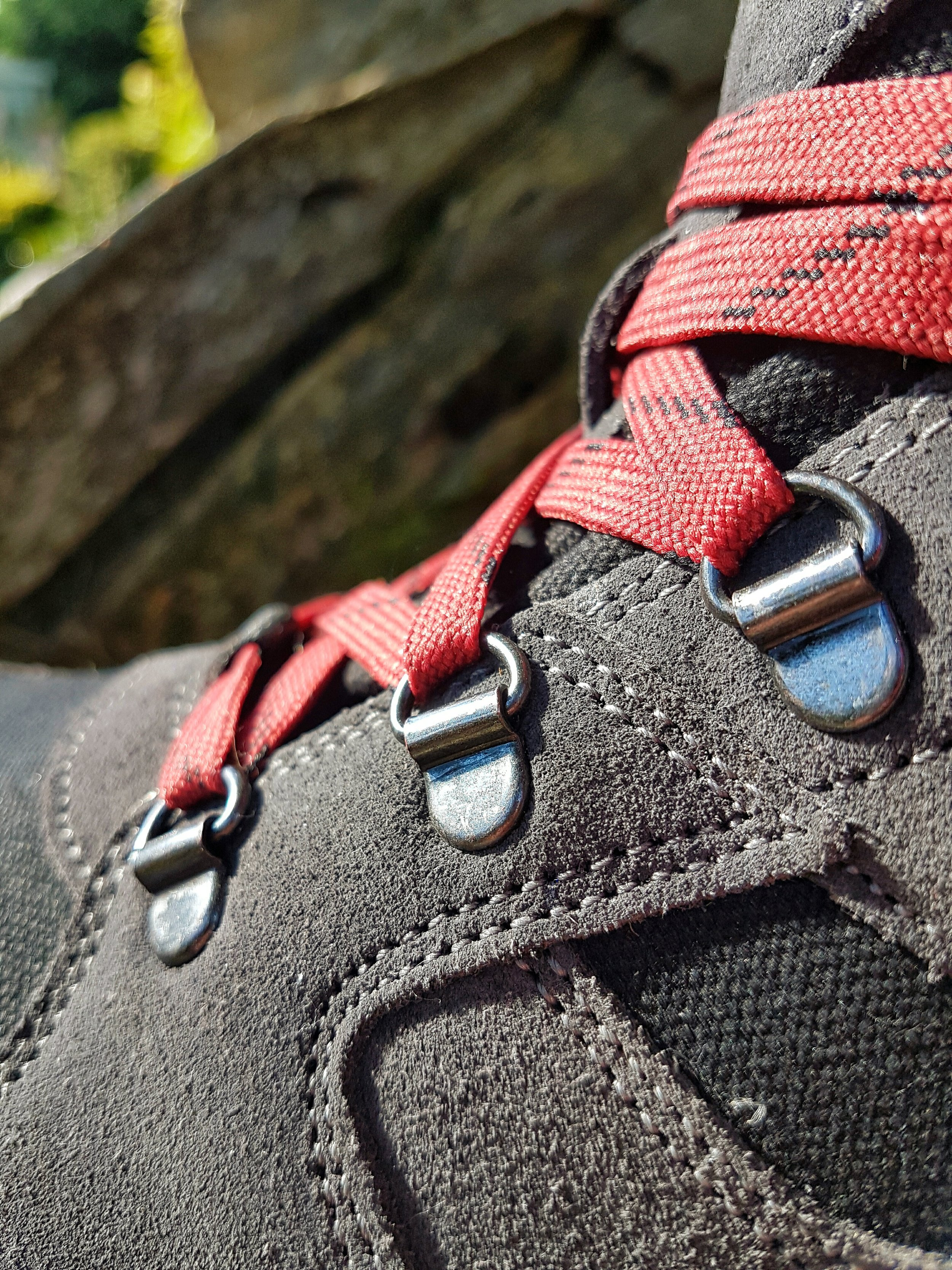 The attention to detail is clear. The stitching is immaculate and strong. The lace eyelets are metal, firmly positioned in place and really strong. After pulling the laces tight, these fixtures would take some moving.