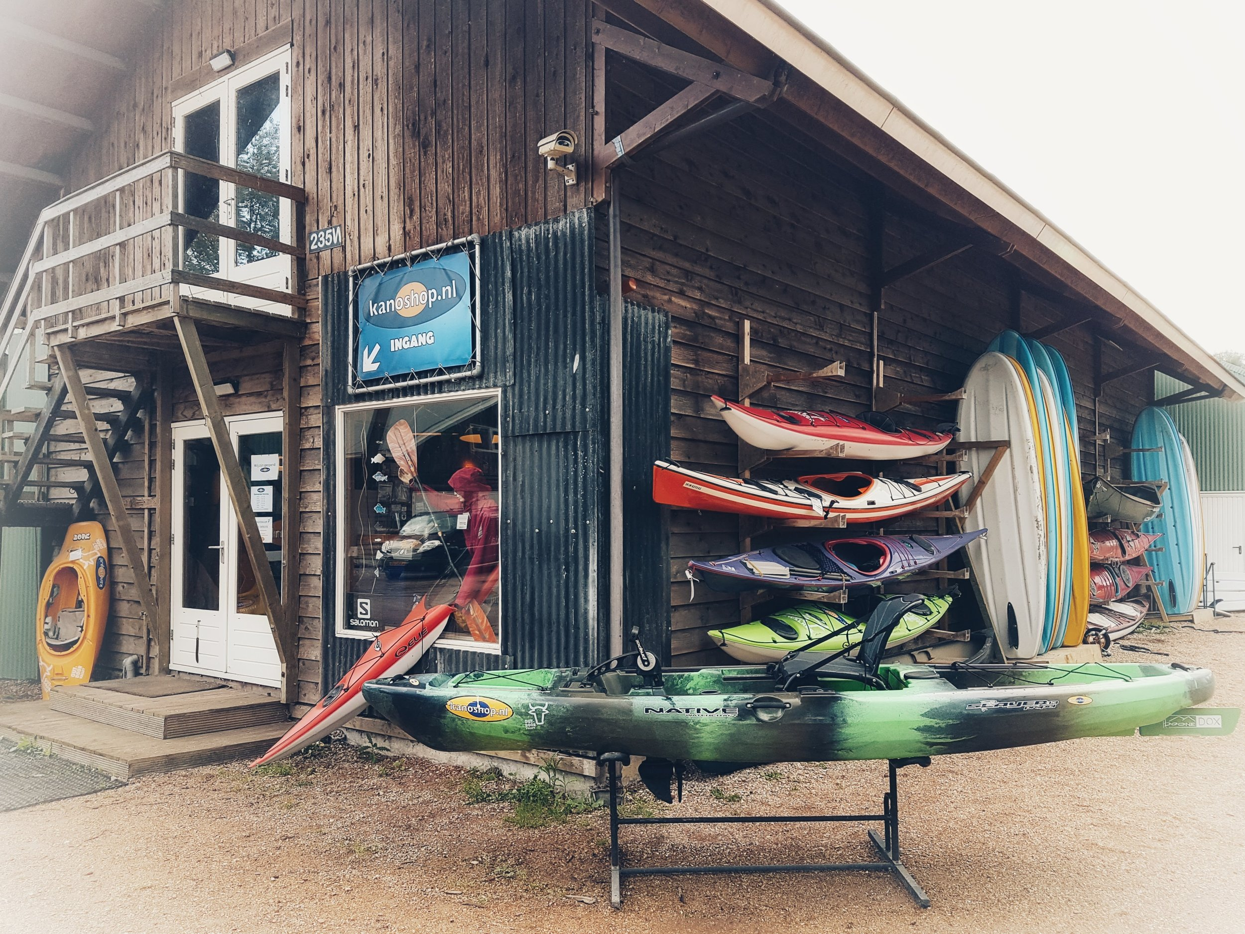 Watersports and Canoe shop.