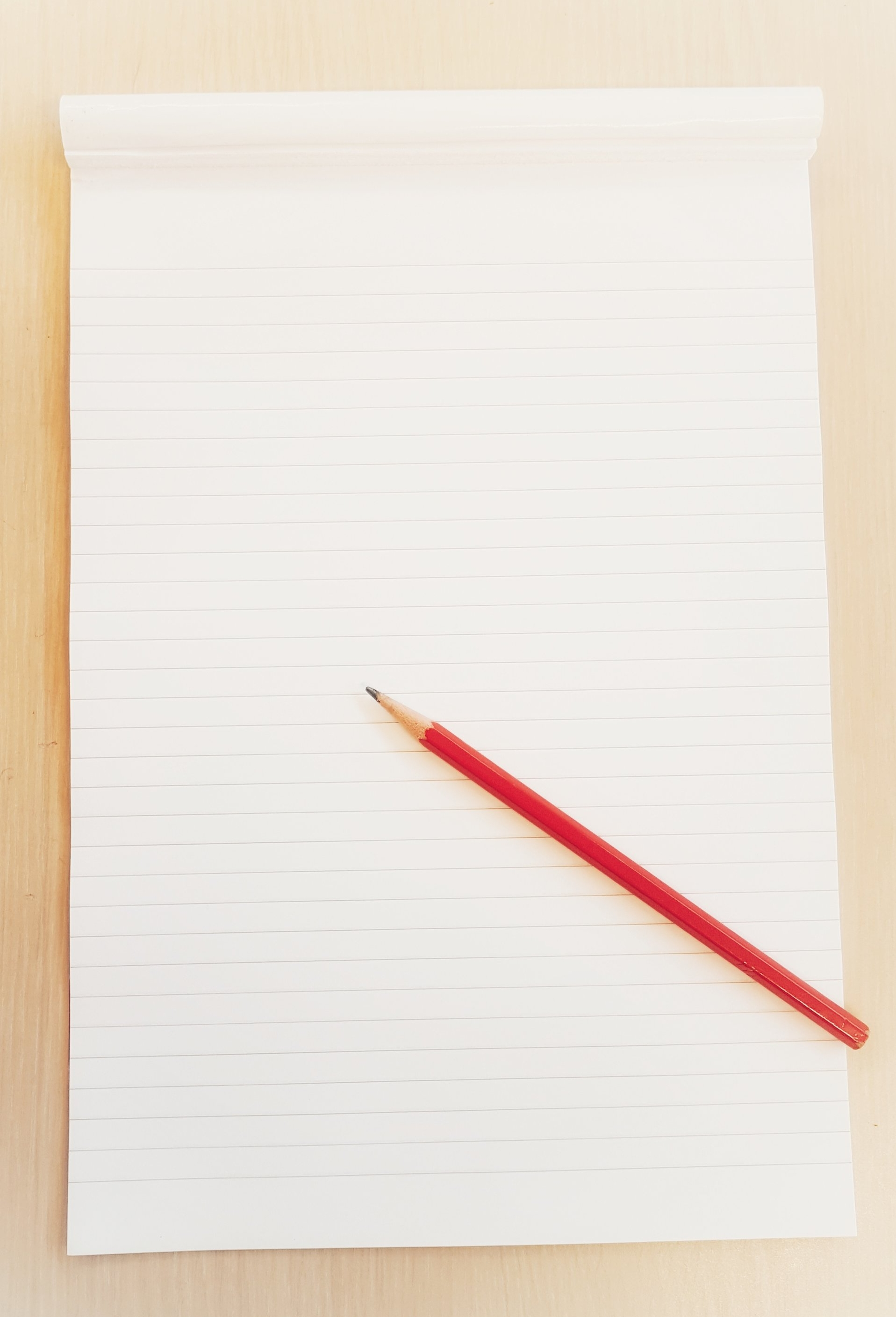 All good ideas start with a blank piece of paper...