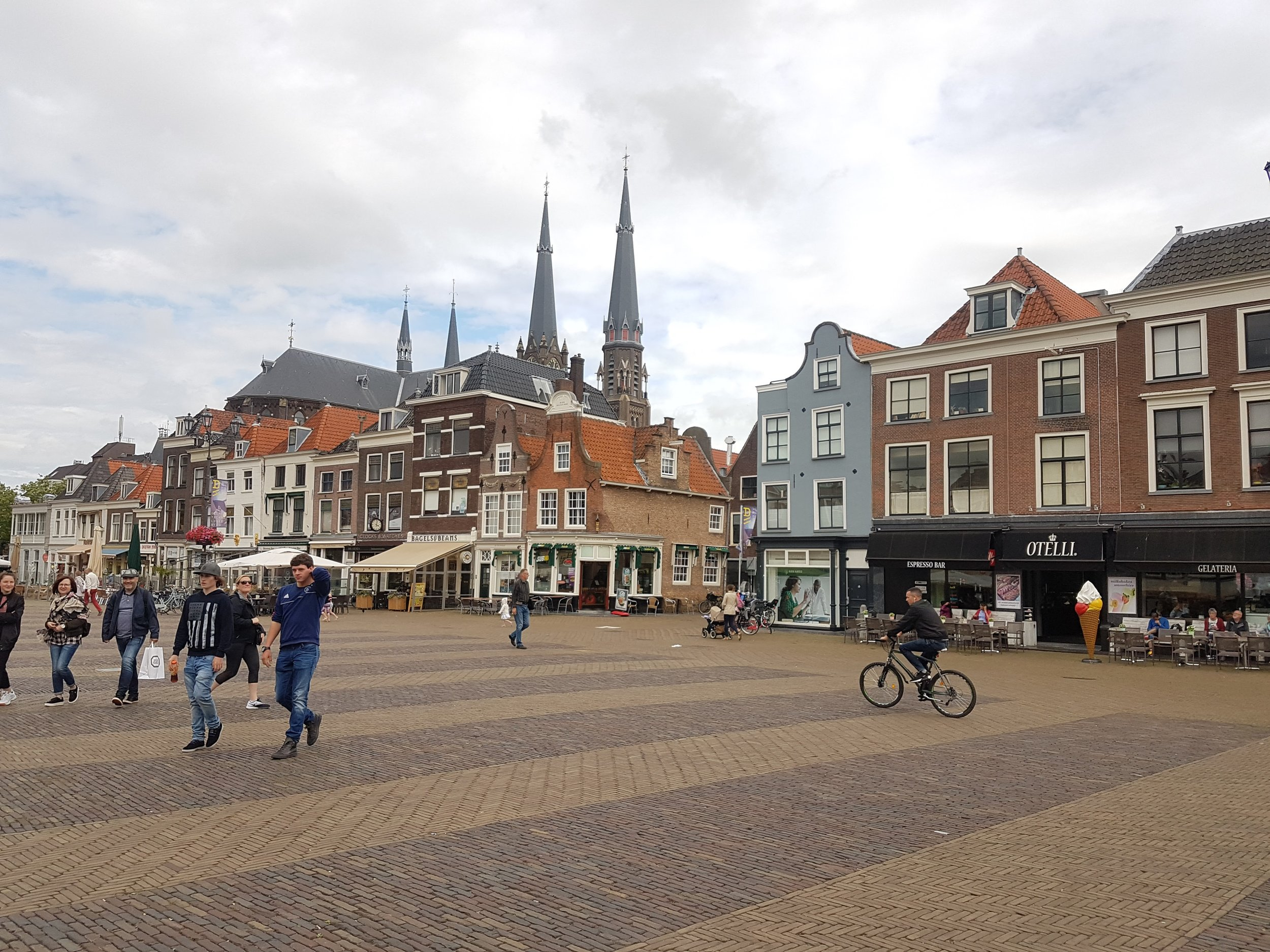 The fine city of  Delft  and its main square.
