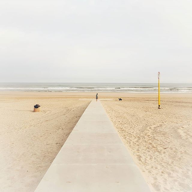 My commute ends here. 🚴♂️ Have a great day!  __  You can see more images on my other account @garethmateblog  #dutch_landscape #denhaag #placestowanderandexplore #cycling #strand 'Thoughts and Stories from the Great Outdoors'  www.garethmate.com
