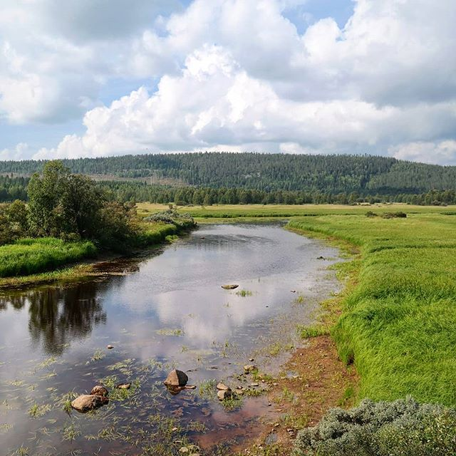 The mighty Torne river.  An impressive sight, and lifeline, weaving its way along the Swedish, Finnish border.  #placestowanderandexplore #swedishlapland