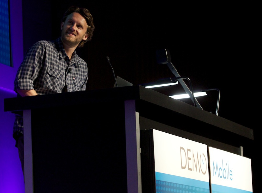 That's me onstage explaining the Voliocast feature of our product in front of 300 or so people at DEMO Mobile 2013.