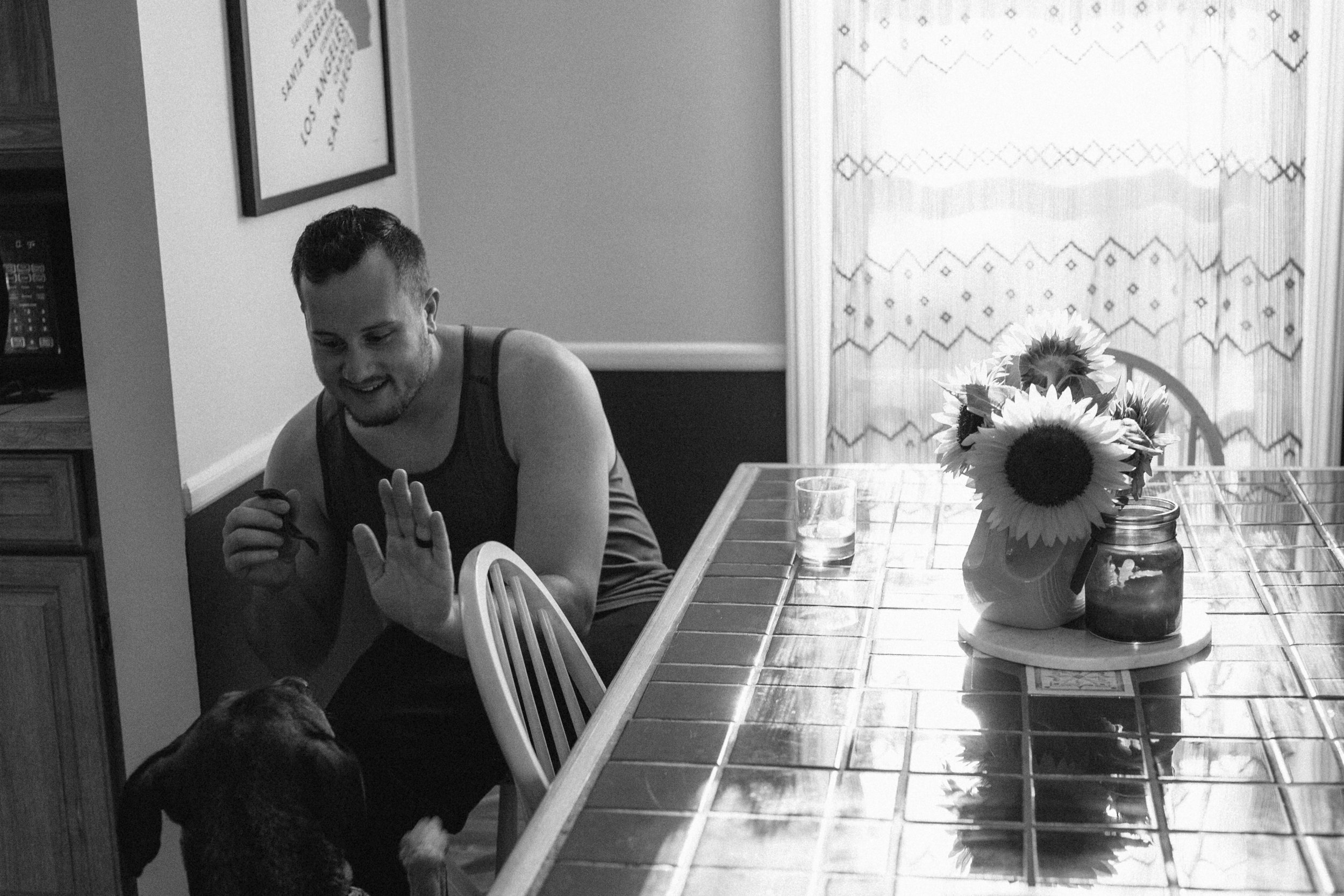 Midwest Michigan Chicago Anniversary Engagement Couple Photo At Home