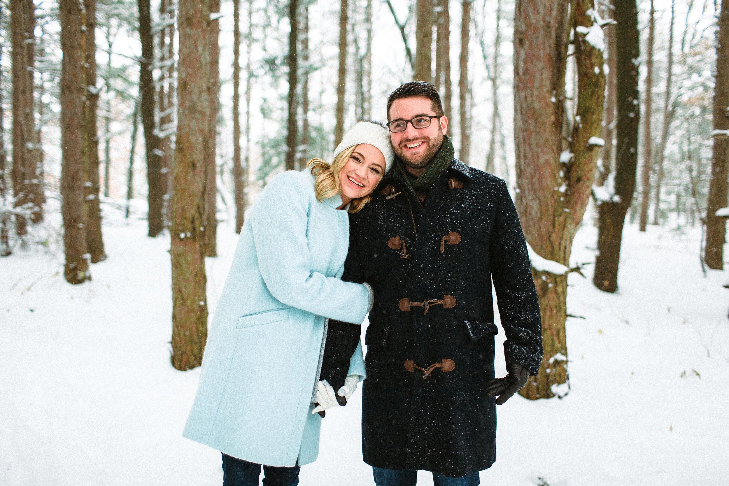 Grand Rapids Michigan Midwest Wedding Photographer Winter Wonderland Engagement Photos