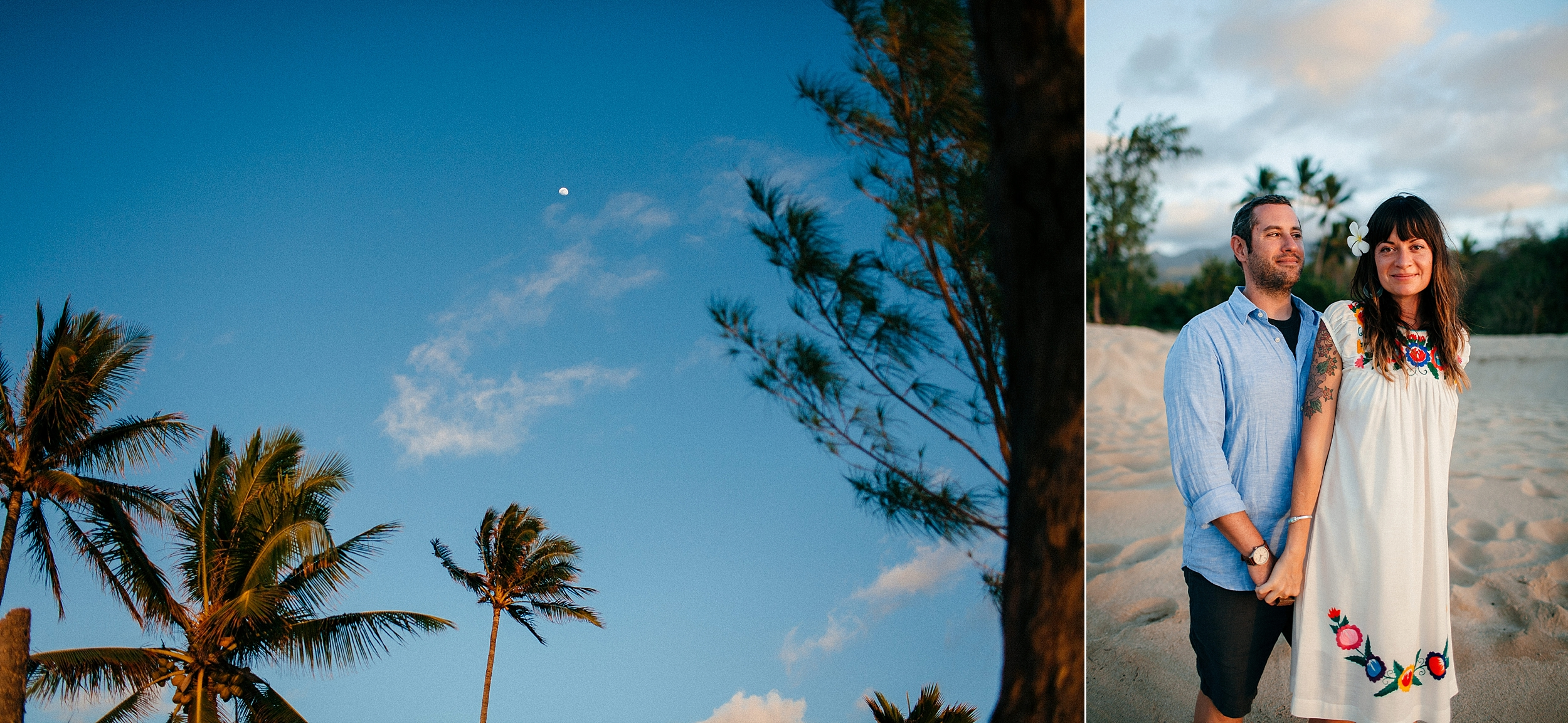 Anniversary Airbnb Beach Photo Session on the North Shore of Oahu