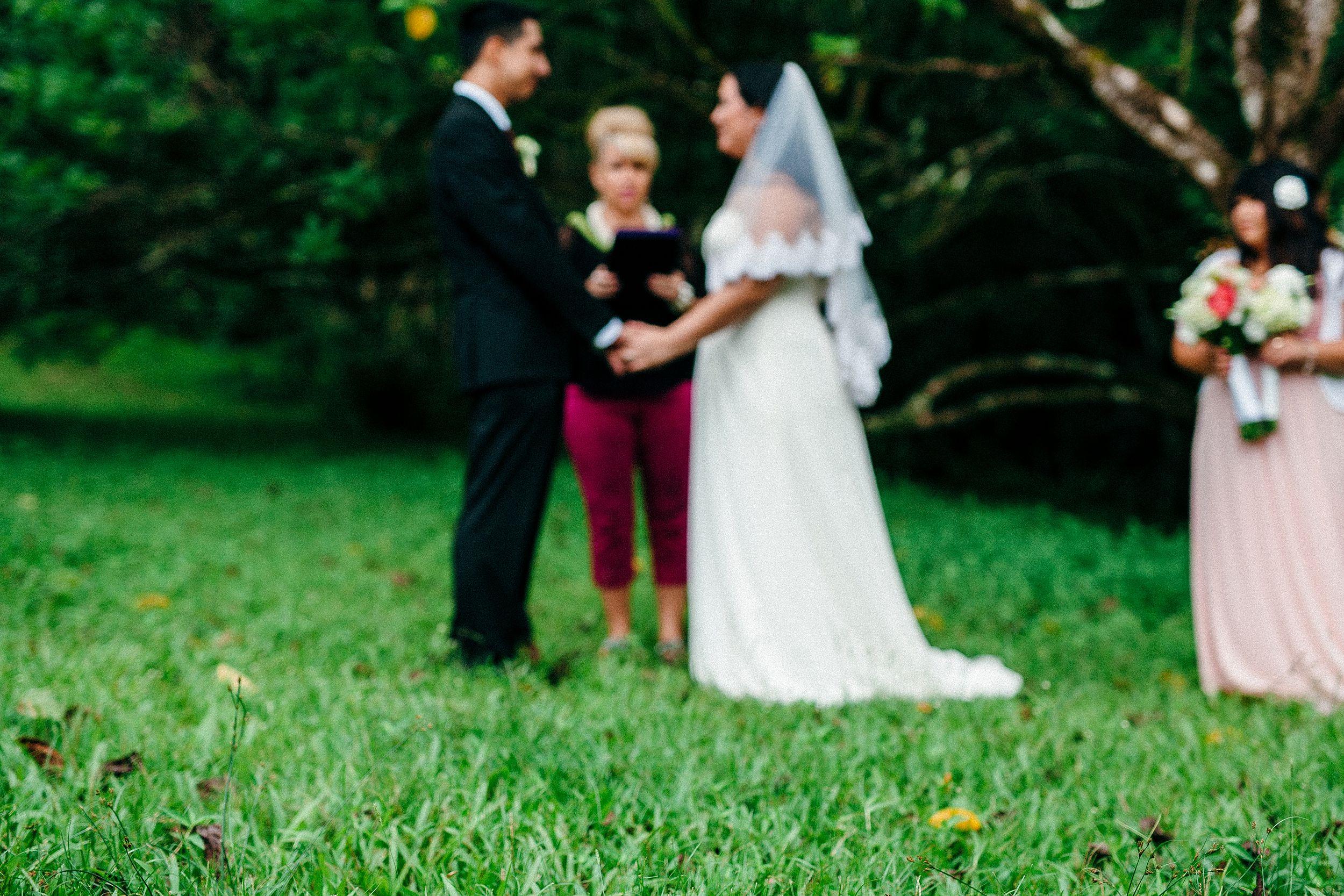 Ho'omaluhia Mountain Wedding - A Small Hawaii Elopement