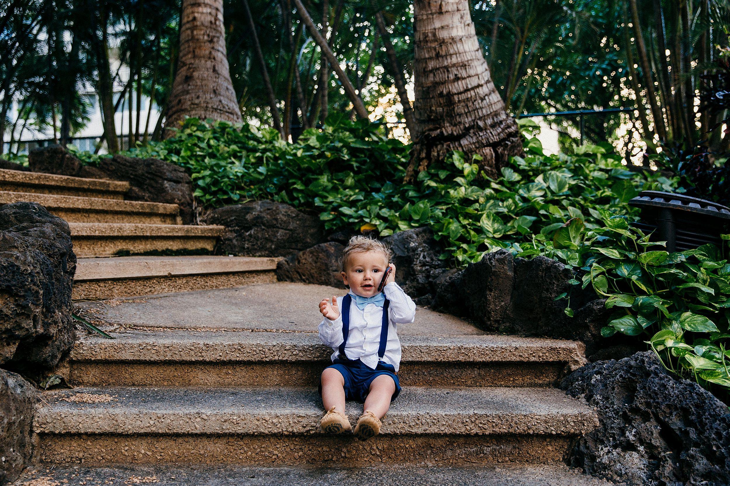 Kids on wedding days - a Waikiki Elopement at the Hilton Honolulu