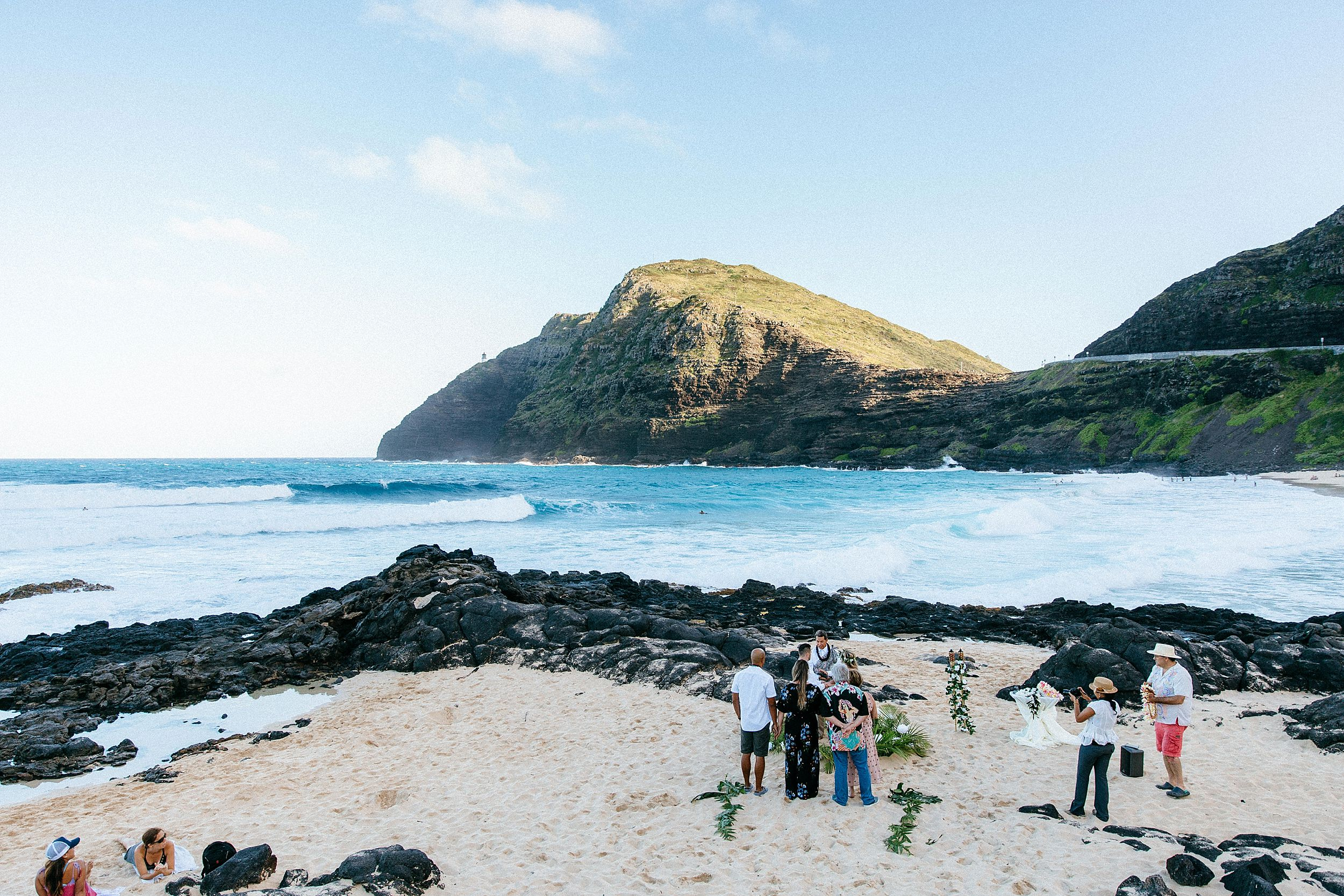 DIY beach elopement in Hawaii Kai