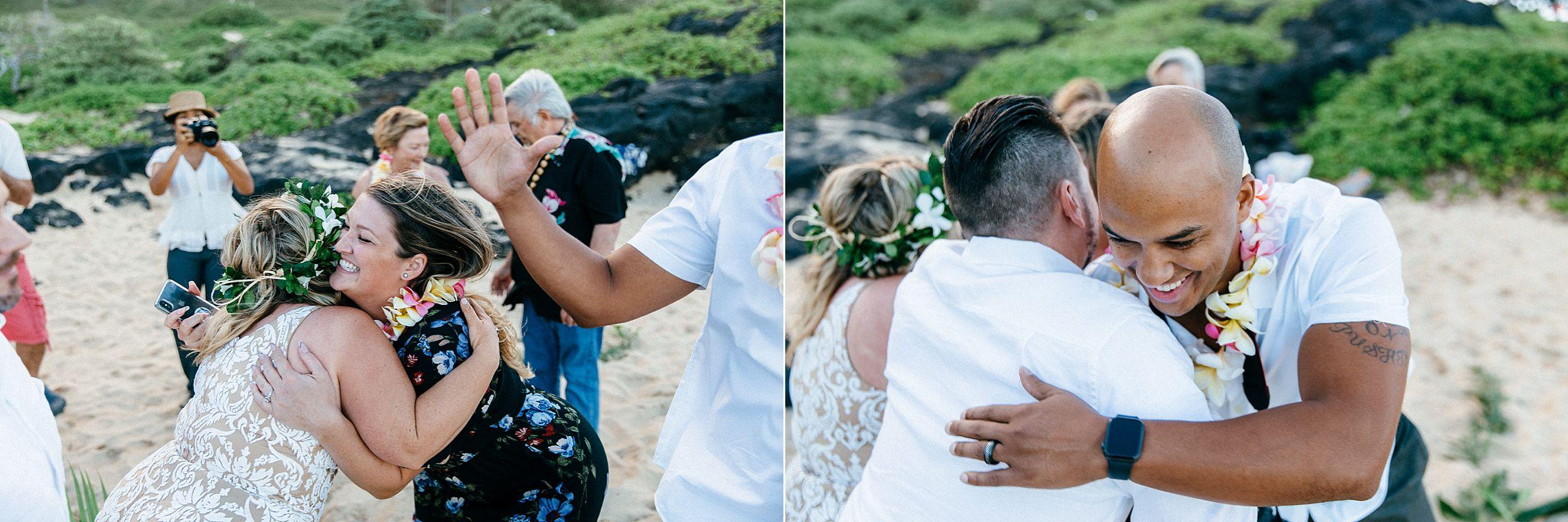 Emotional elopement vows in Honolulu, Hawaii