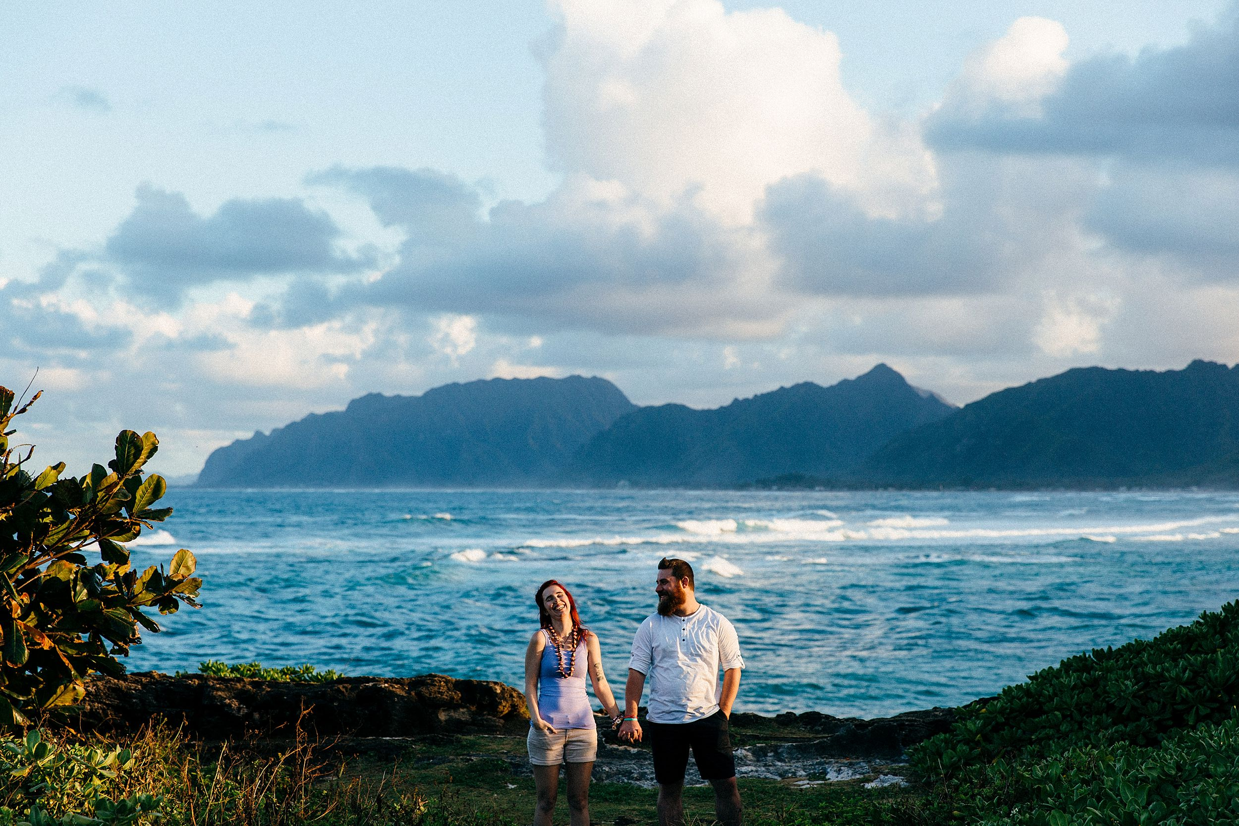 Mackenzie & Lex honeymoon in Hawaii - La'ie Point couple's session