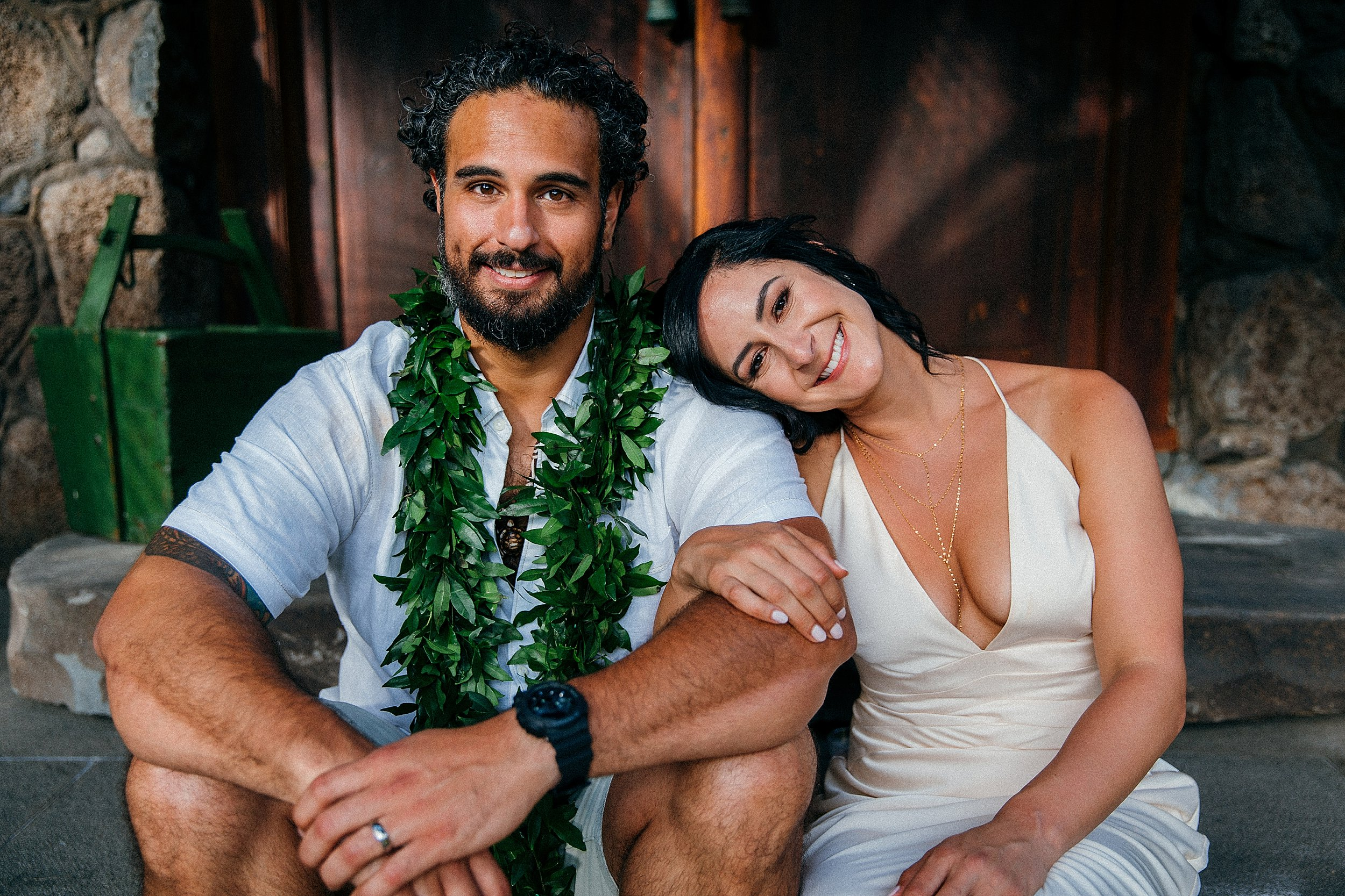 Victoria & Carlos - Joyous Backyard Oceanfront Wedding on North Shore Oahu
