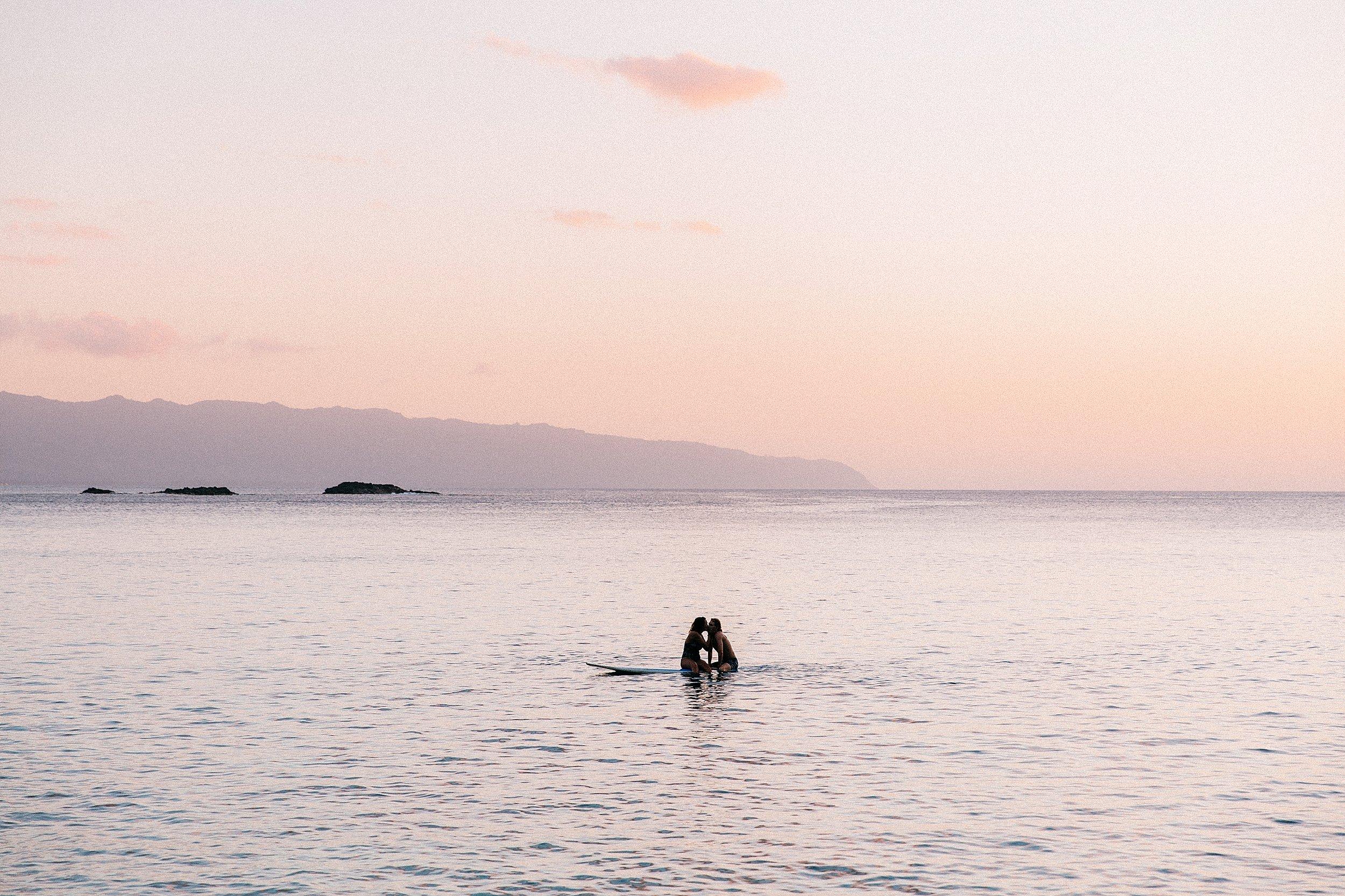 Sunset Proposal at Waimea Bay on Oahu's North Shore