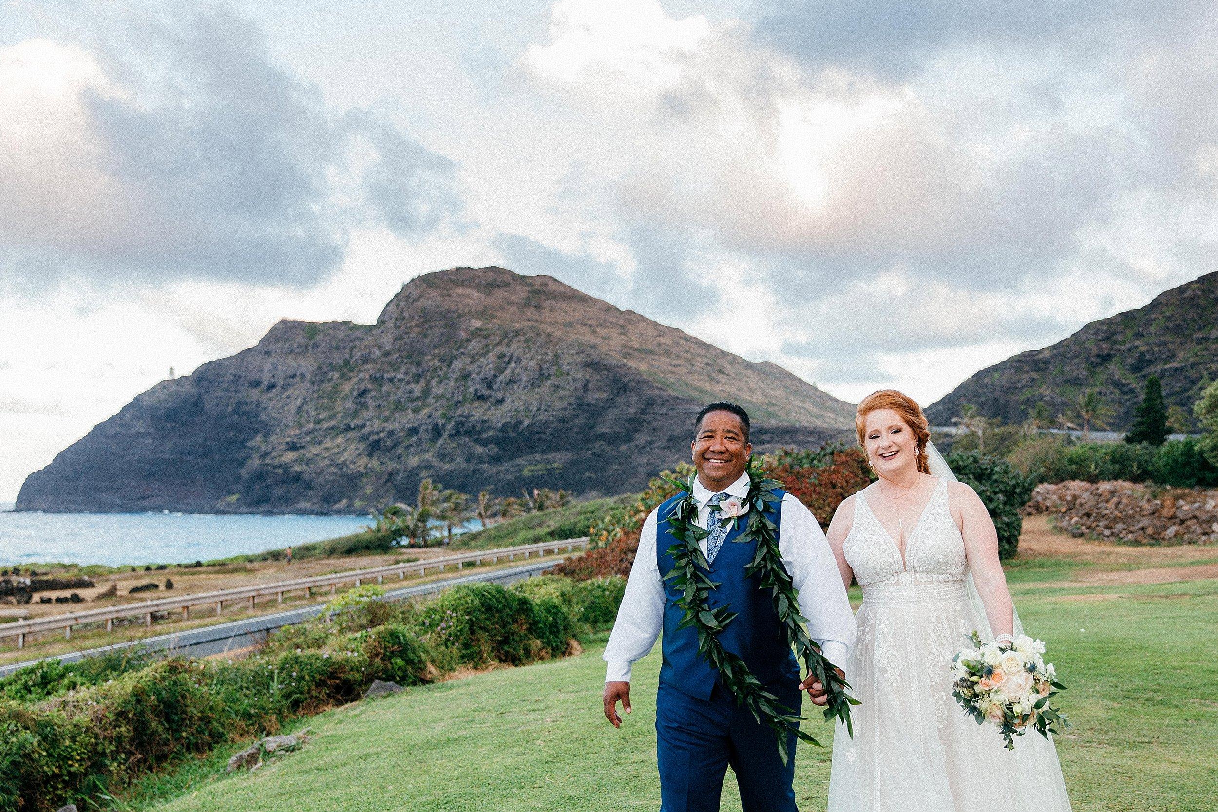 Hawaii Wedding at Sea Life Park and Makapuu Lookout