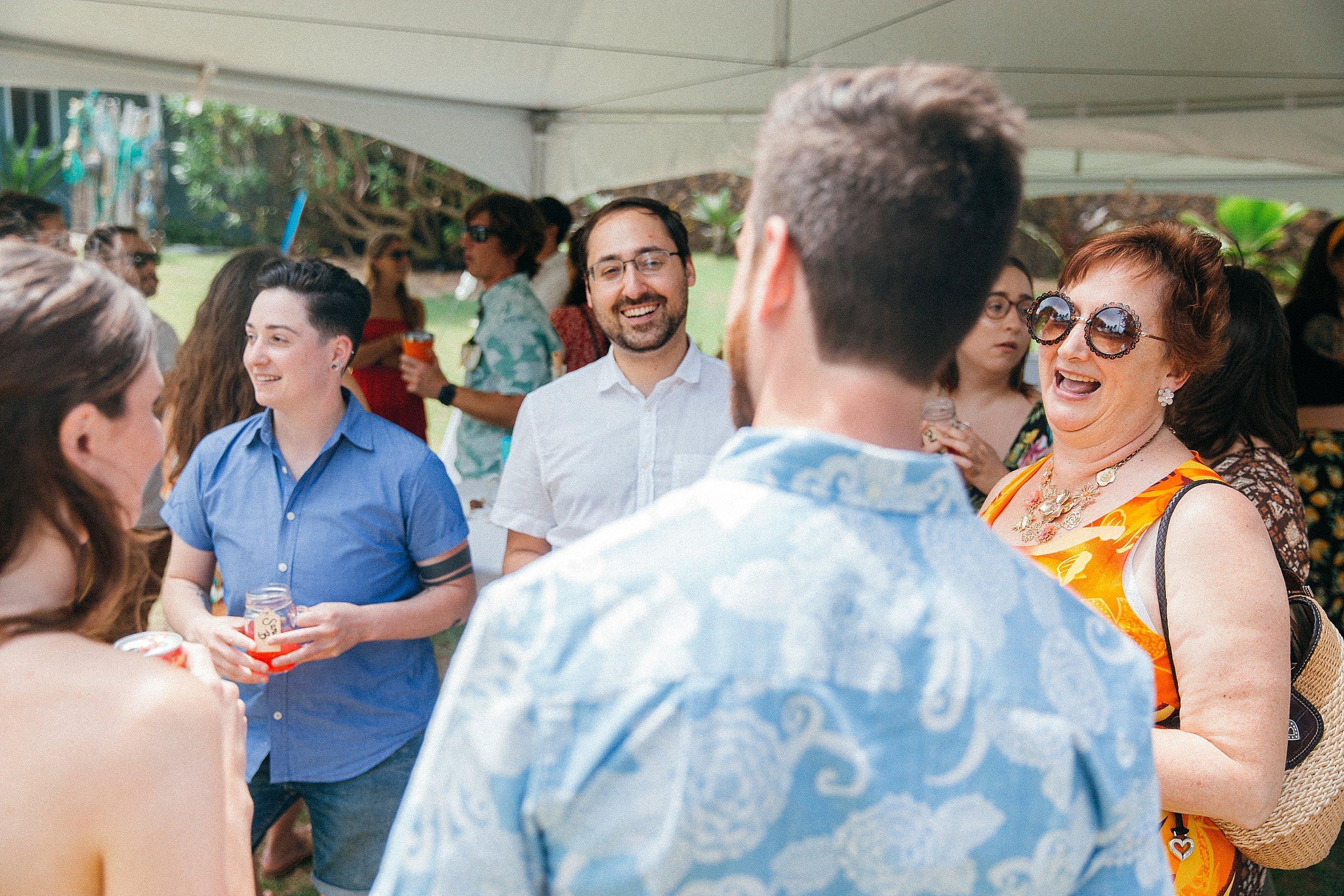 Backyard Hawaii Wedding on Oahu's North Shore - Pounders Beach