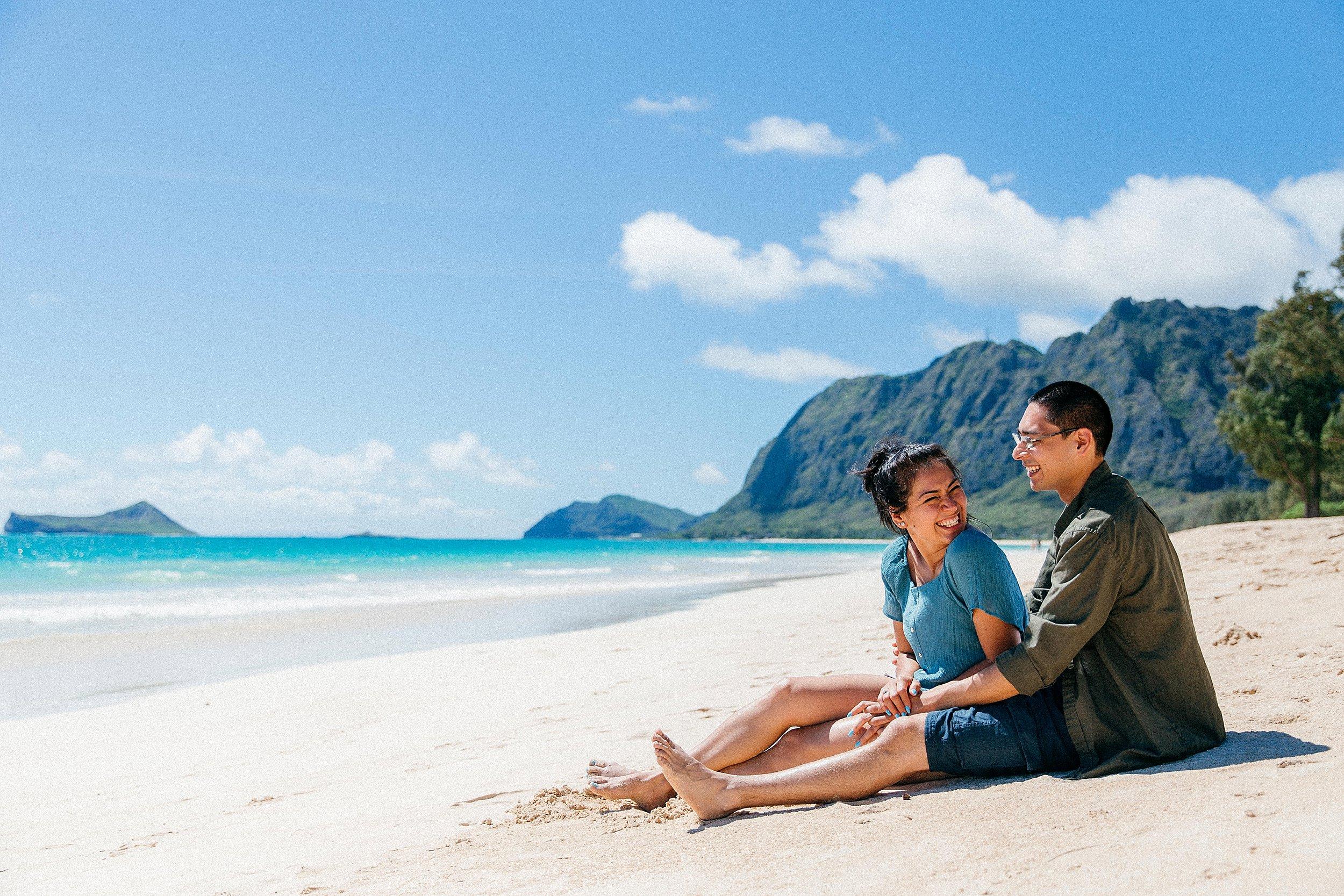 Fun and Playful Mountain Proposal in Waimanalo, Hawaii