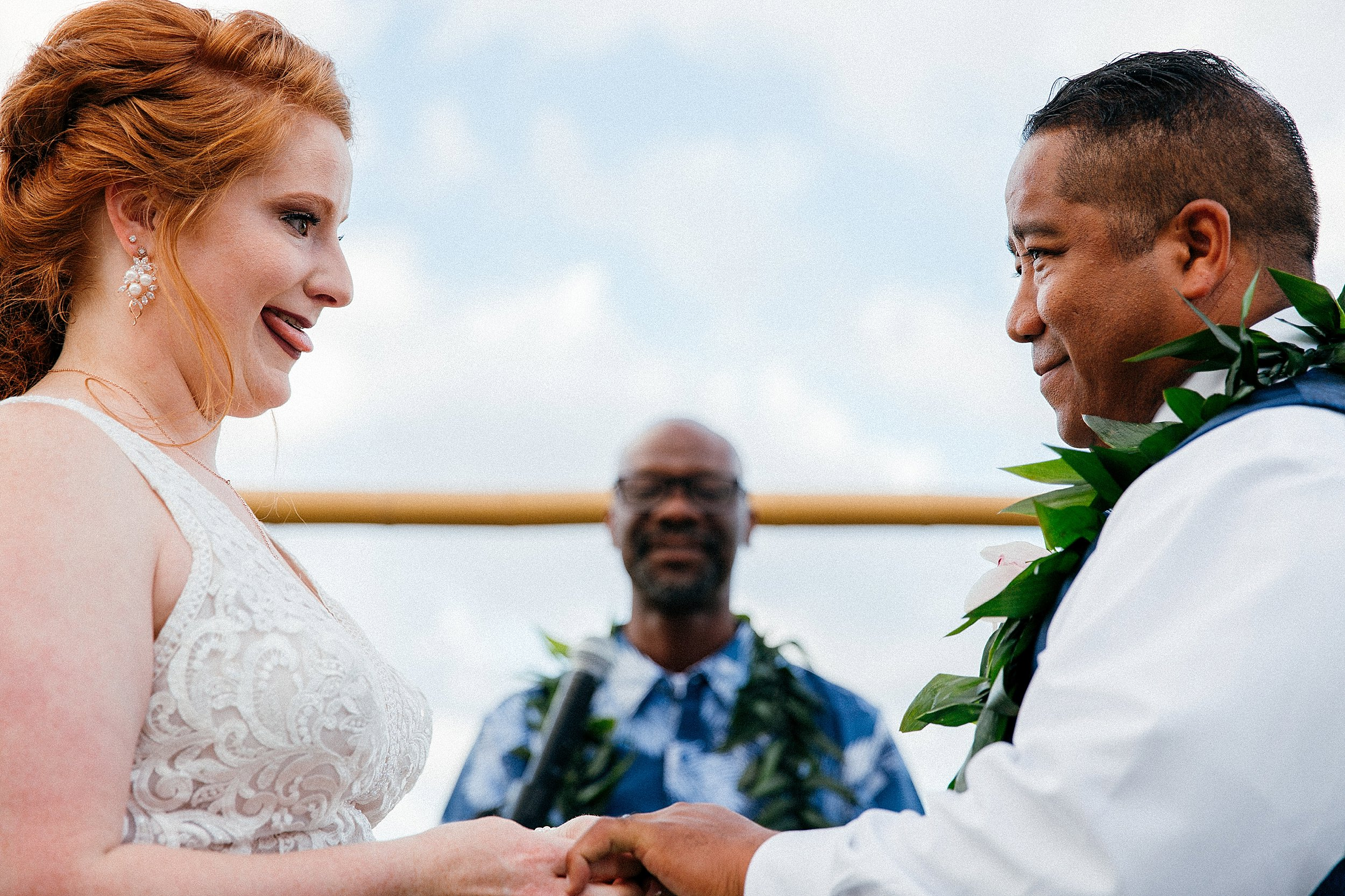 Bonnie & Jake get married at Sea Life Park overlooking Makapuu Lighthouse in front of their closest friends & family.