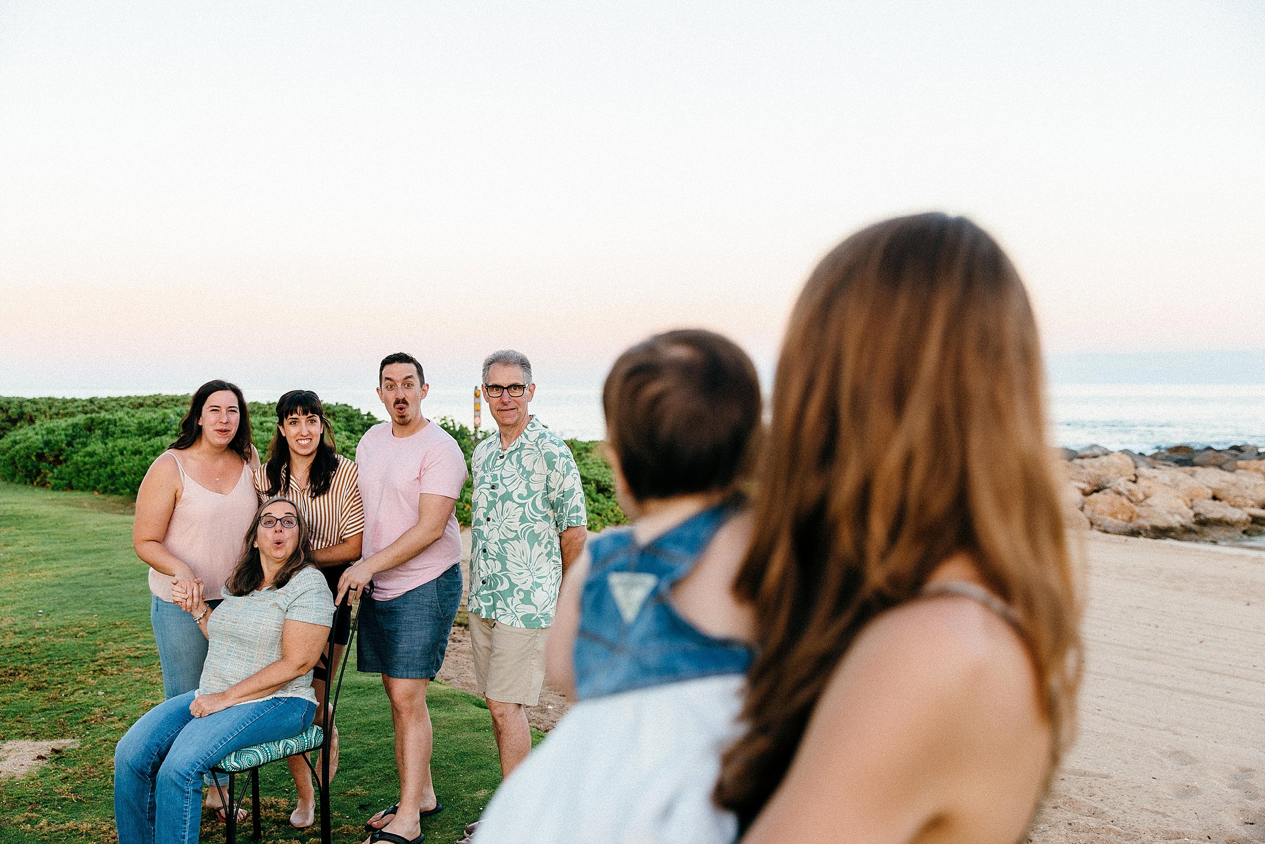 Extended family photos at Ko Olina on the west side of Oahu, Hawaii.