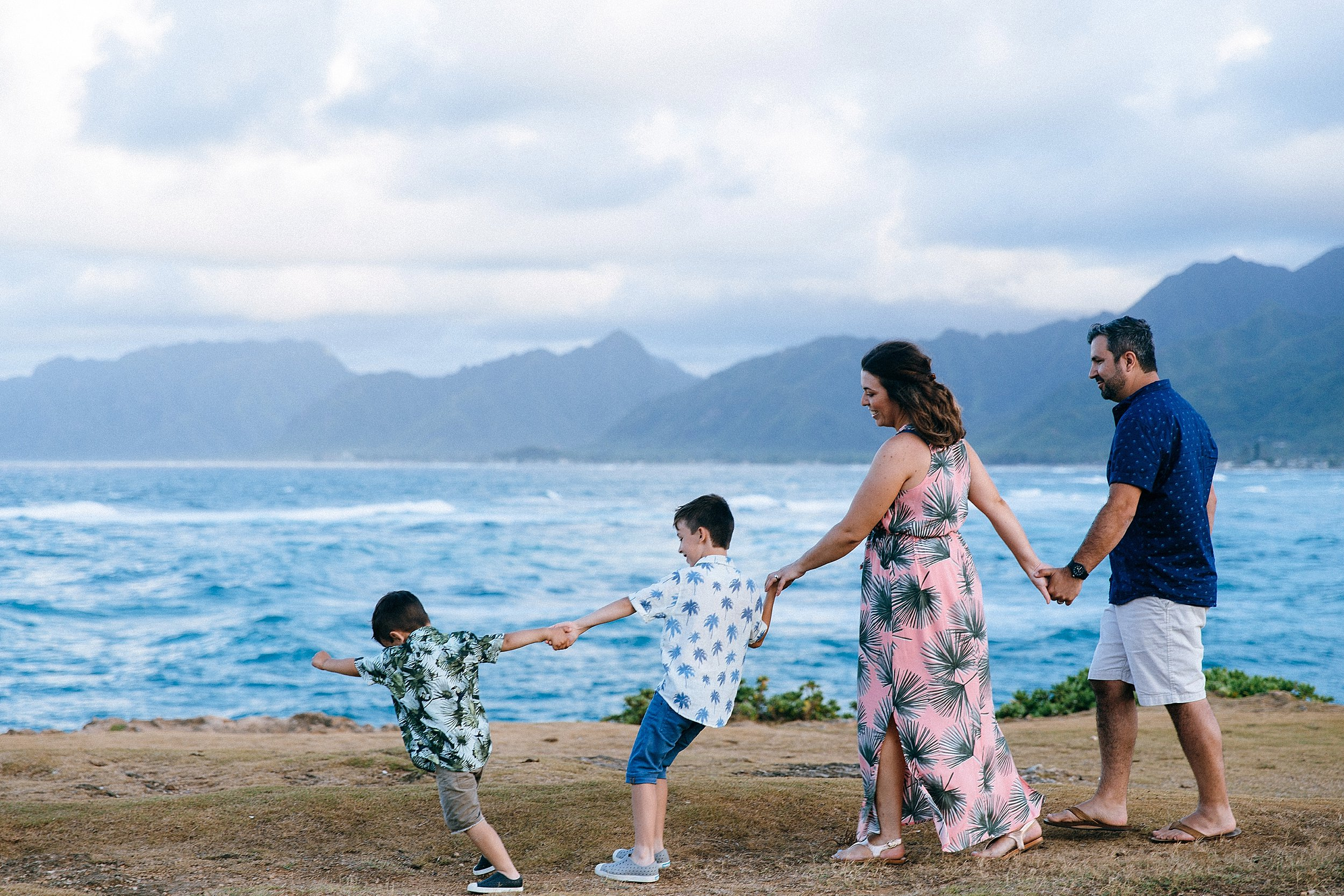 Laie Point family session.