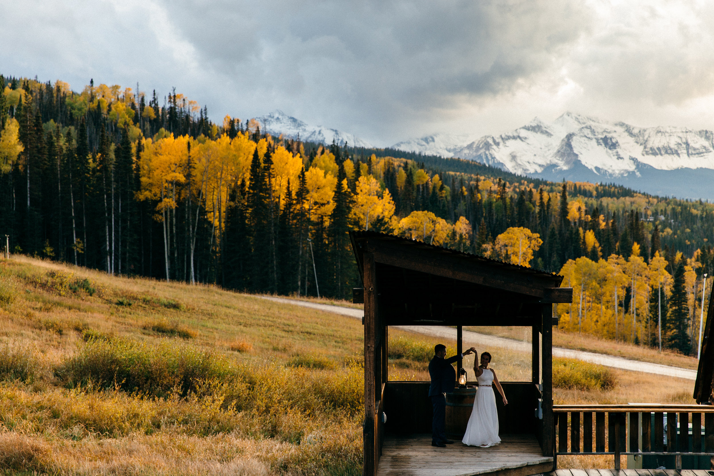 Documentary Wedding Photographer - Telluride, Colorado San Sophia Overlook Wedding