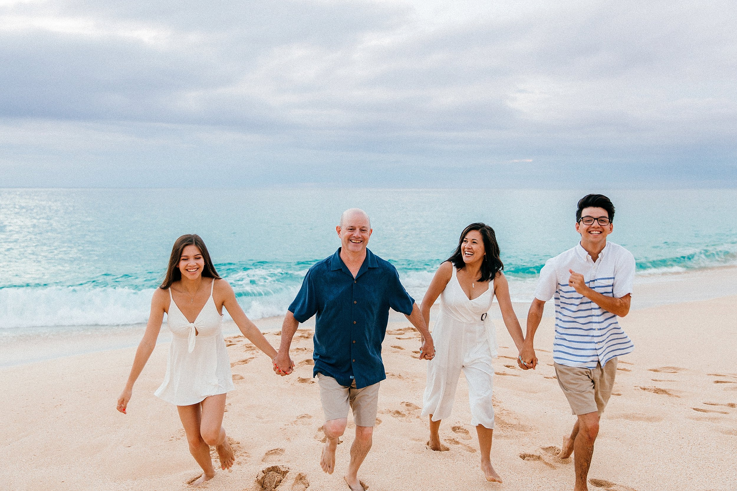 Vacation Family Photo Session at Keiki Beach North Shore, Oahu