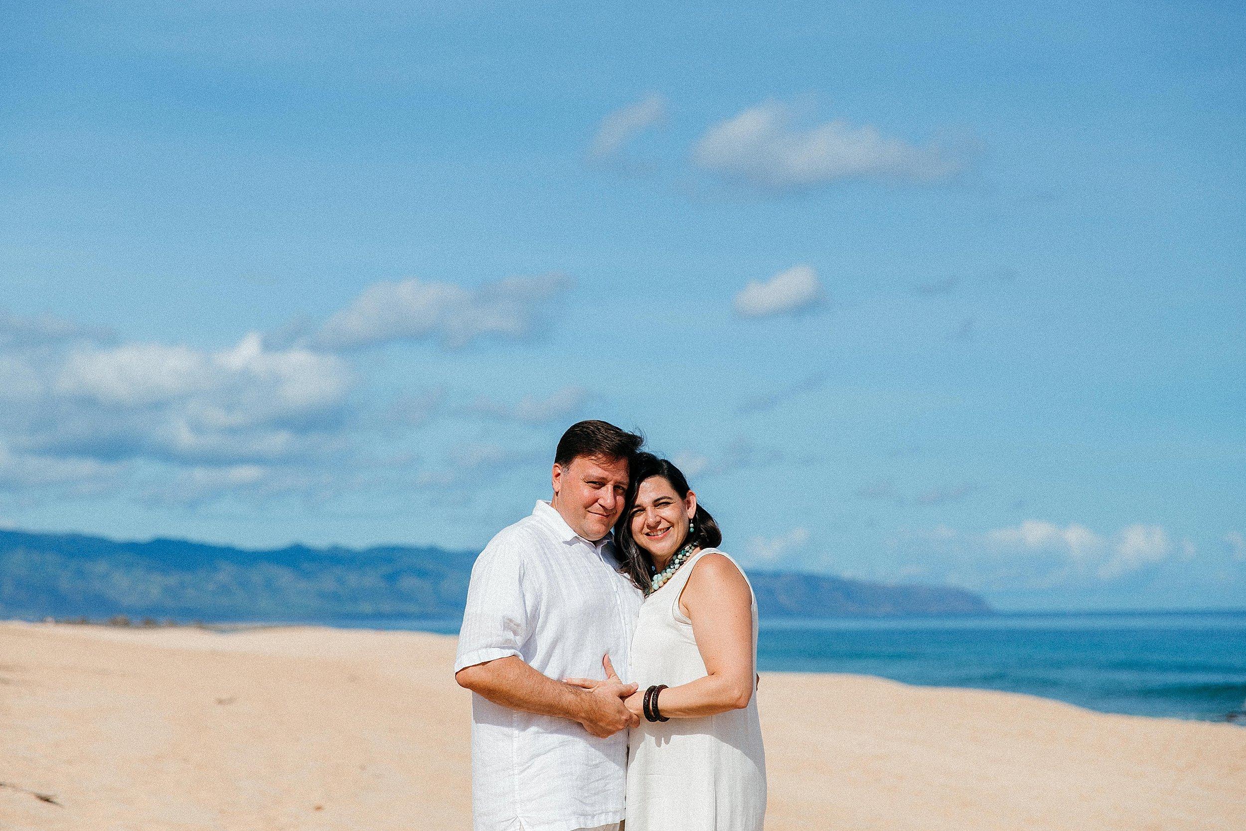Backyard Hawaii Family Photos and 20th Vow Renewal