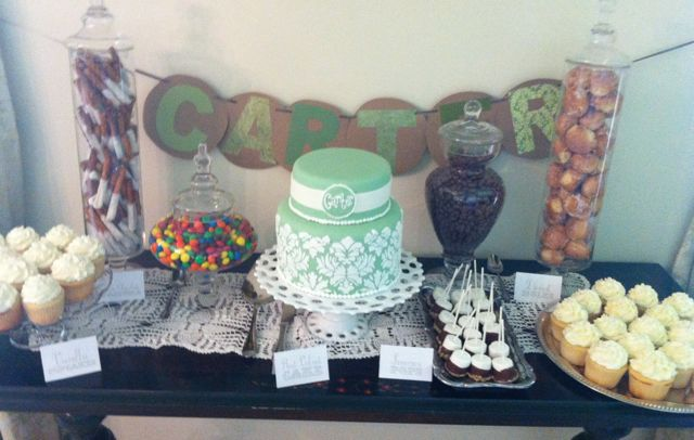 Baby shower dessert table 2