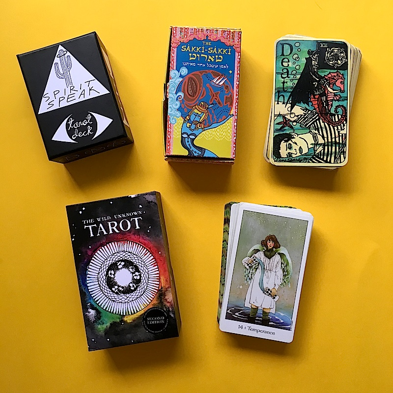 Five_Desert_Island_Tarot_Decks