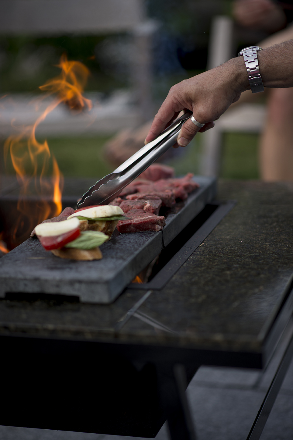 You can grill anything on our New England Soapstone.