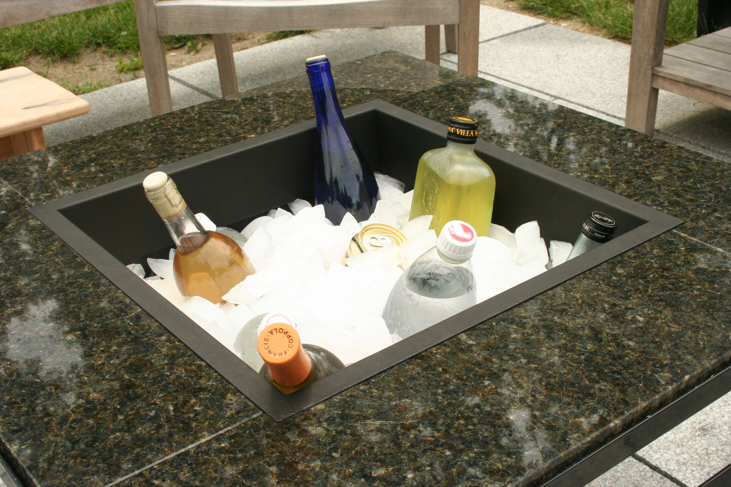 Heavy Gauge Plastic Ice Chest with Brass Value (to remove water)    $75