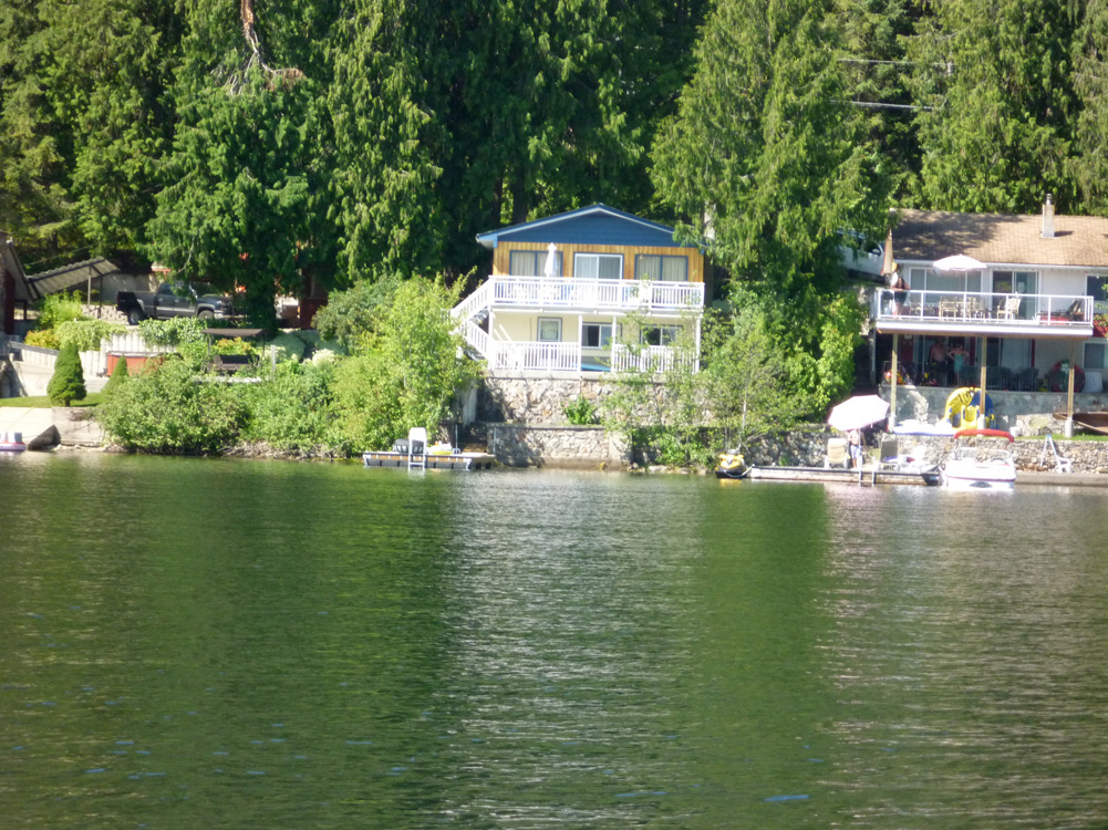 Nestled in a quiet community of lakefront cottages and bungalows.