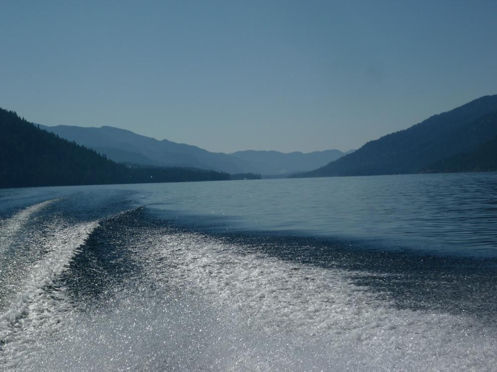 Toward the north end of Christina Lake.
