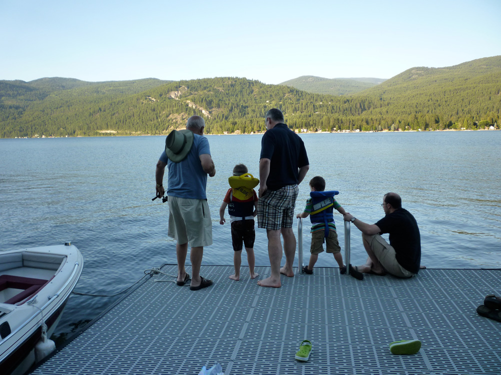 The boys of summer consider their fishing prospects.