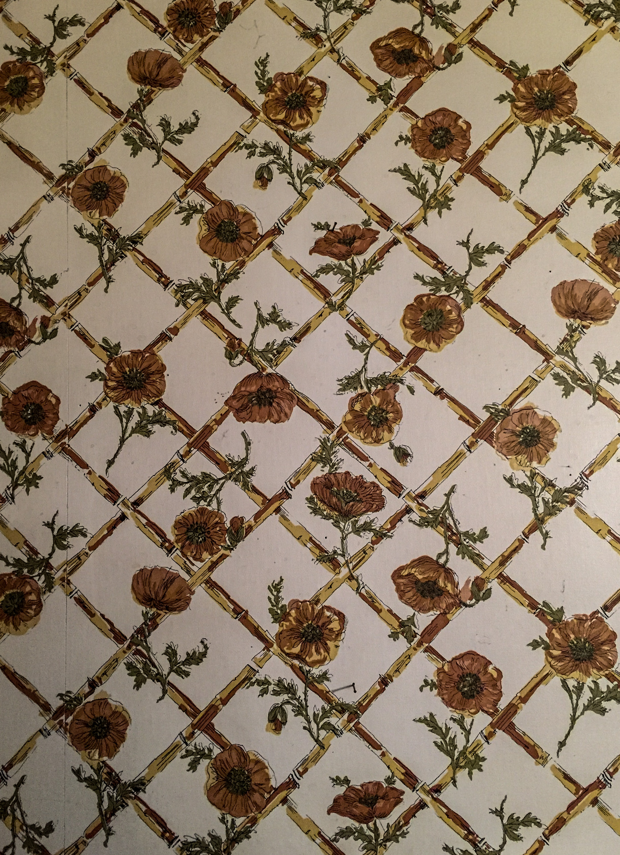 "The wallpaper in ""Mimi's"" kitchen."