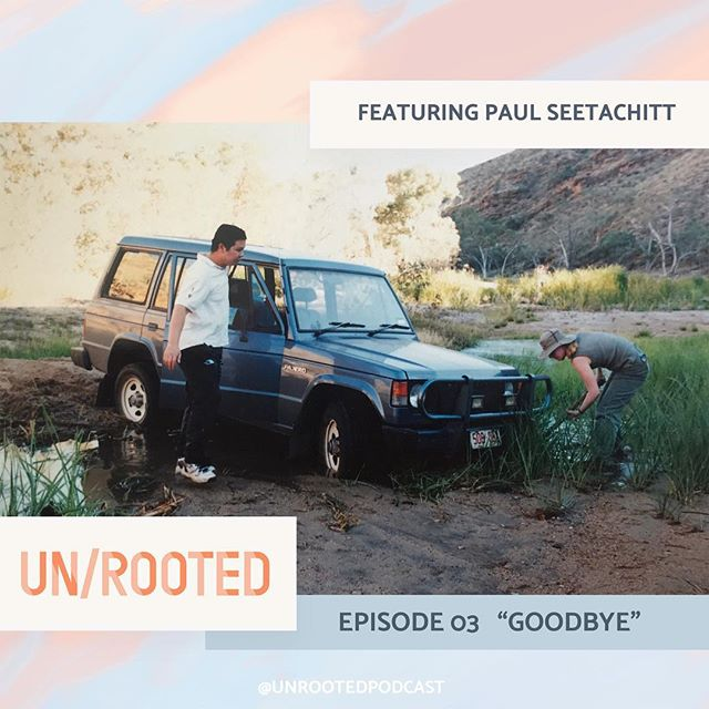 In the latest episode of @unrootedpodcast we hear from Paul Seetachitt about long distance moves and saying goodbye. 😢 Follow the link in bio -or- listen to if wherever you like to listen to podcasts! 💗 • #whereishome #unrooted #newpodcastalert #longdistancemoving #sayinggoodbye #homeiswhereveryouare