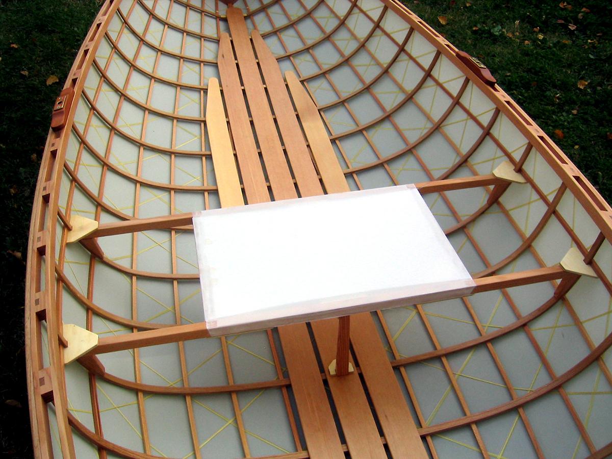 Geodesic Aerolite Whitehall 12' | 2006 | oak, fir, dacron, kevlar