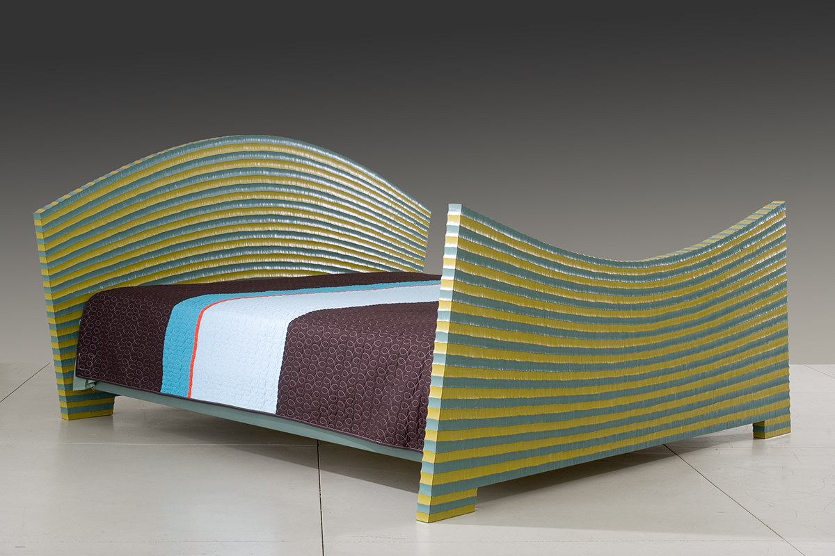 Very Large Bed   2005   wood, paint   47 x 91 x 86