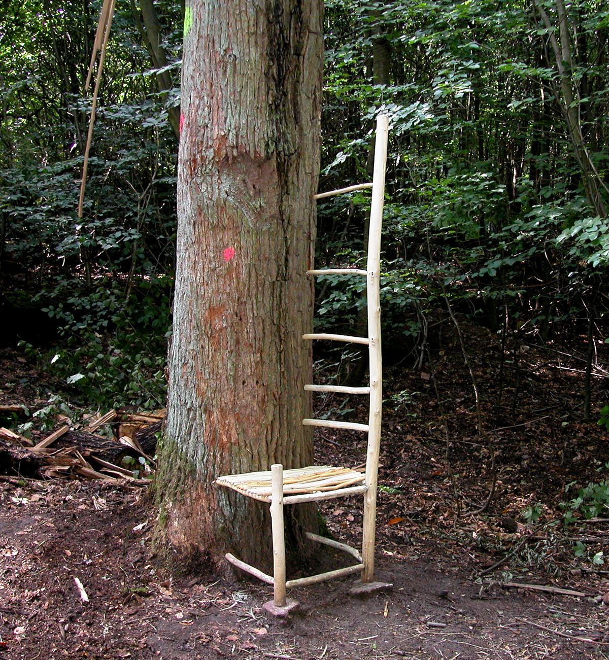 Ladderback | 2004 | wood | 74 x 20 x 22 | Darmstadt, Germany
