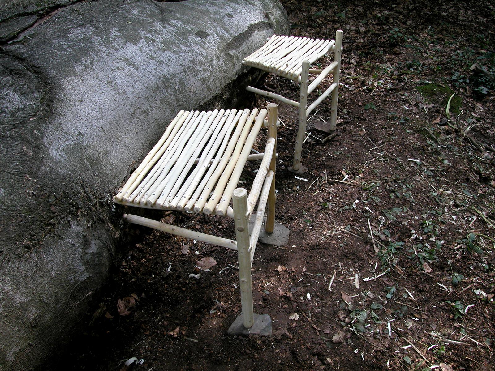 Double Chair | 2004 | wood | 30 x 150 x 46 | Darmstadt, Germany