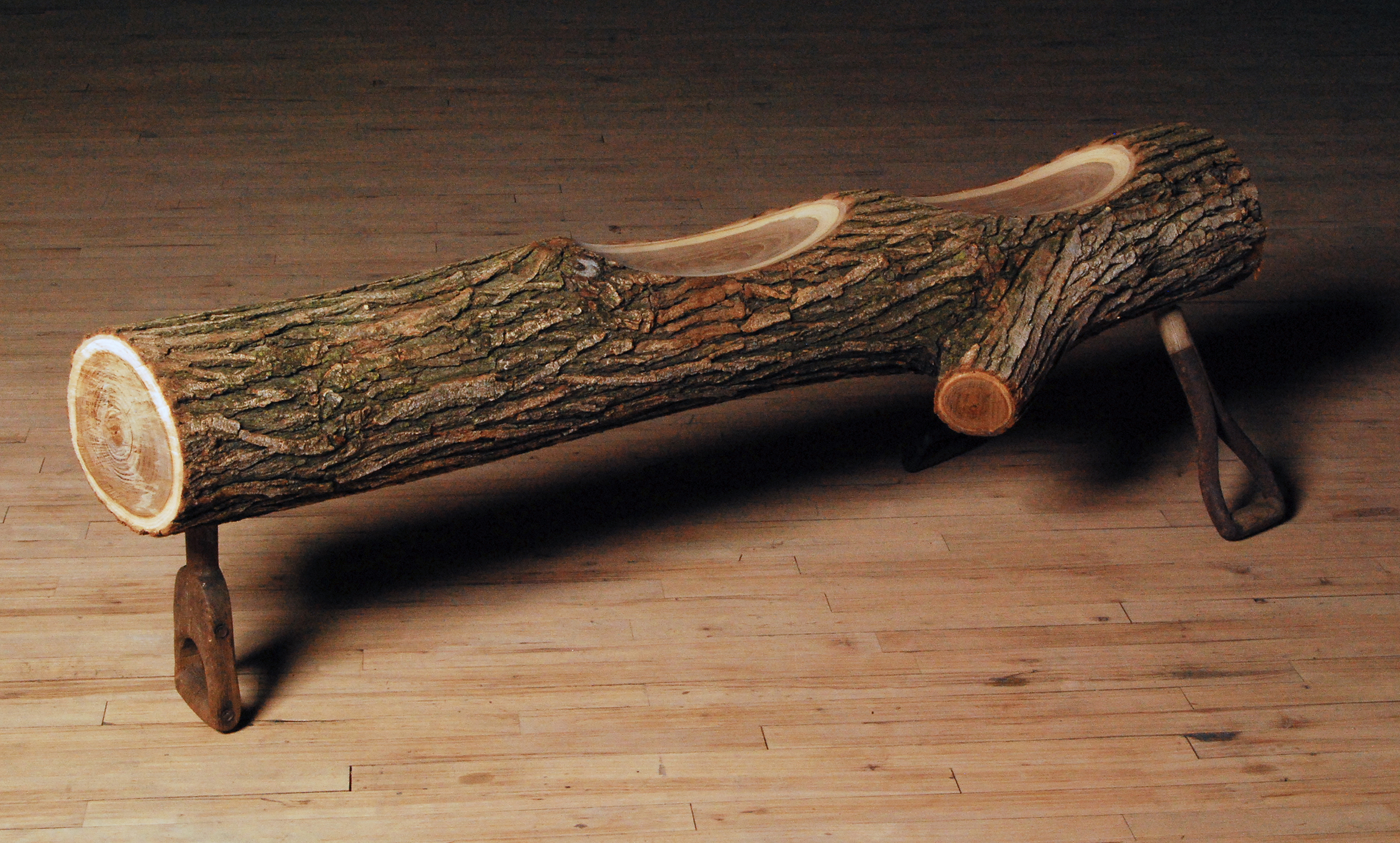 How to Handle a Log  |  2010  |  wood, shovel handles  |  14 x 61 x 14